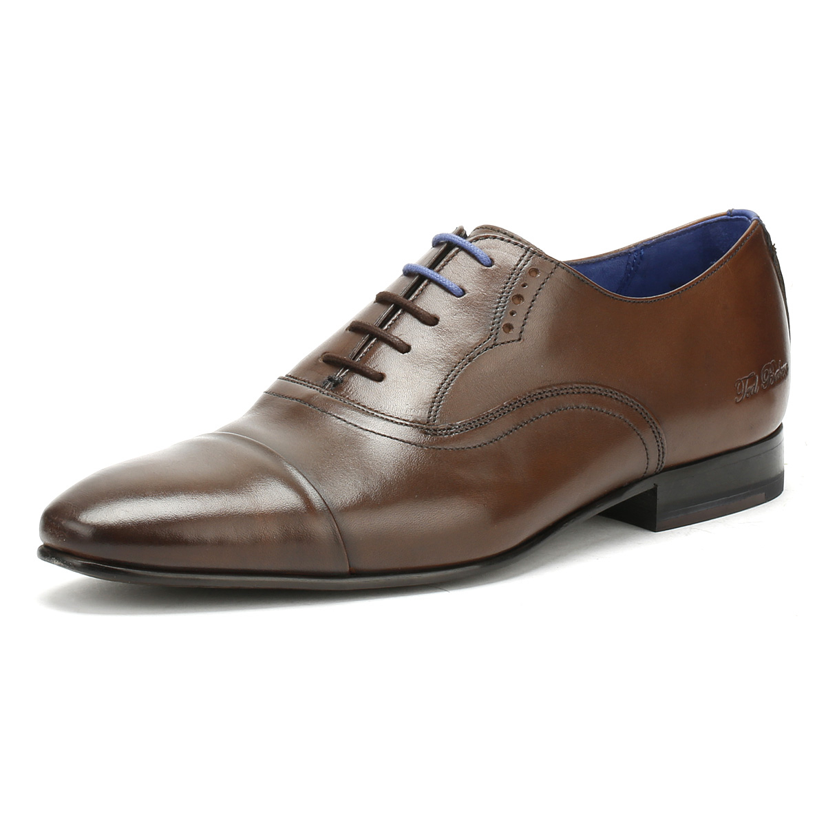 14f0722b6b97c4 Details about Ted Baker Mens Formal Shoes Brown Leather Murain Lace Up  Smarts