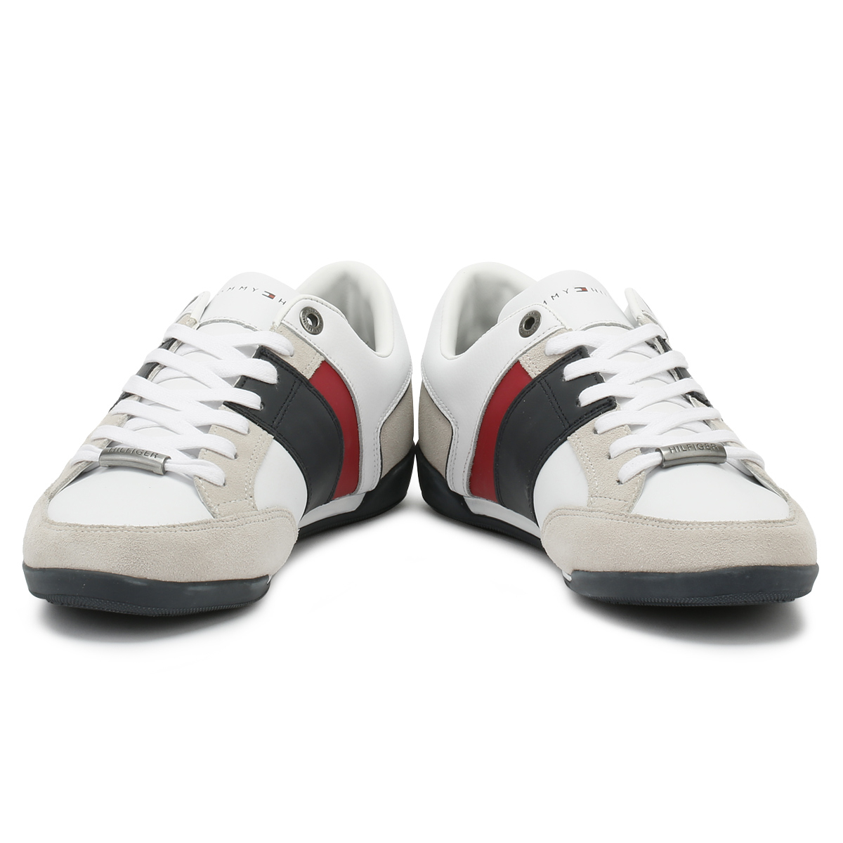 Tommy Corporate Hilfiger  Uomo Trainers WEISS Corporate Tommy Cupsole Sport Casual Schuhes 451189