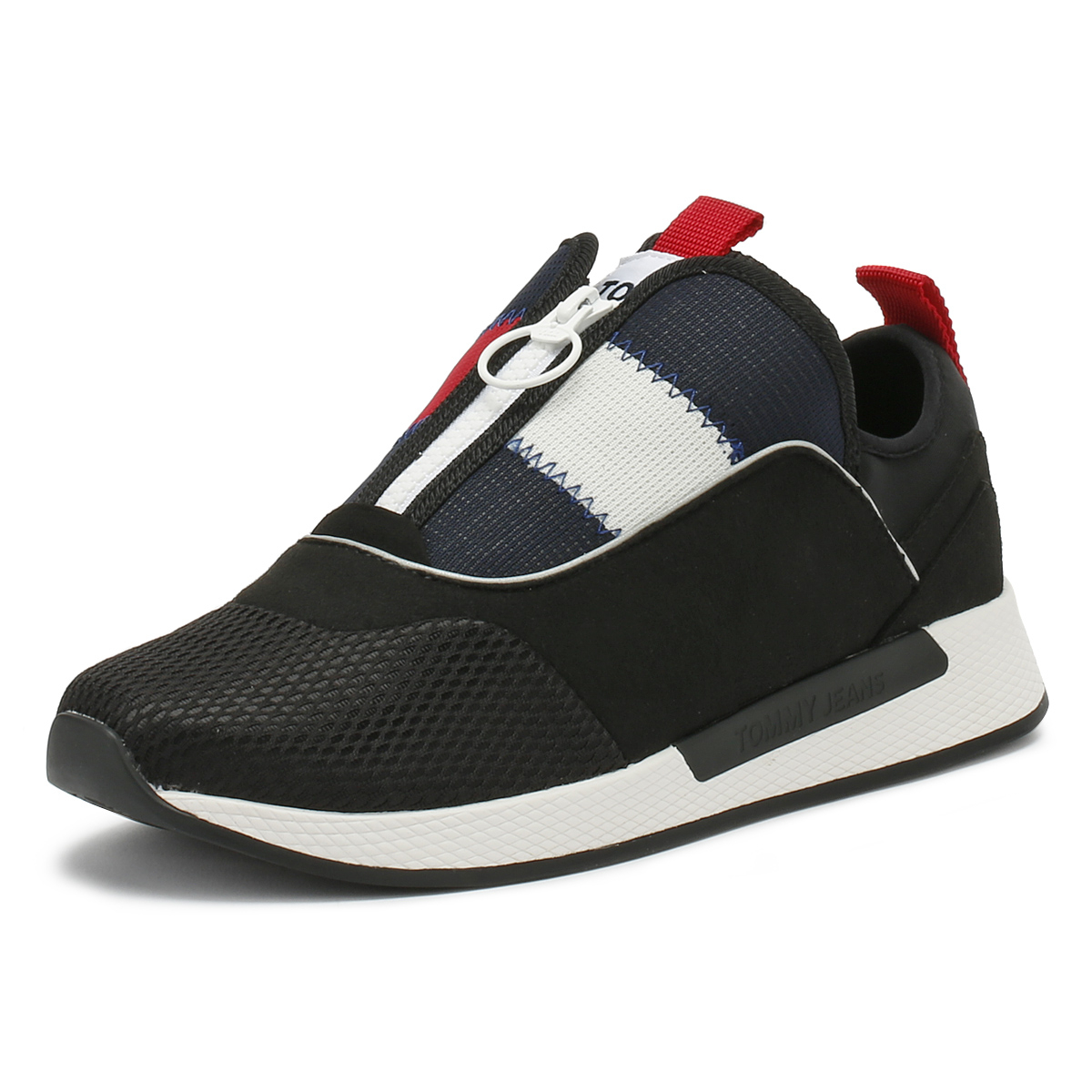 8cfd7287317 Details about Tommy Hilfiger Mens Trainers Black Icon Sport Flexi Sport  Casual Shoes