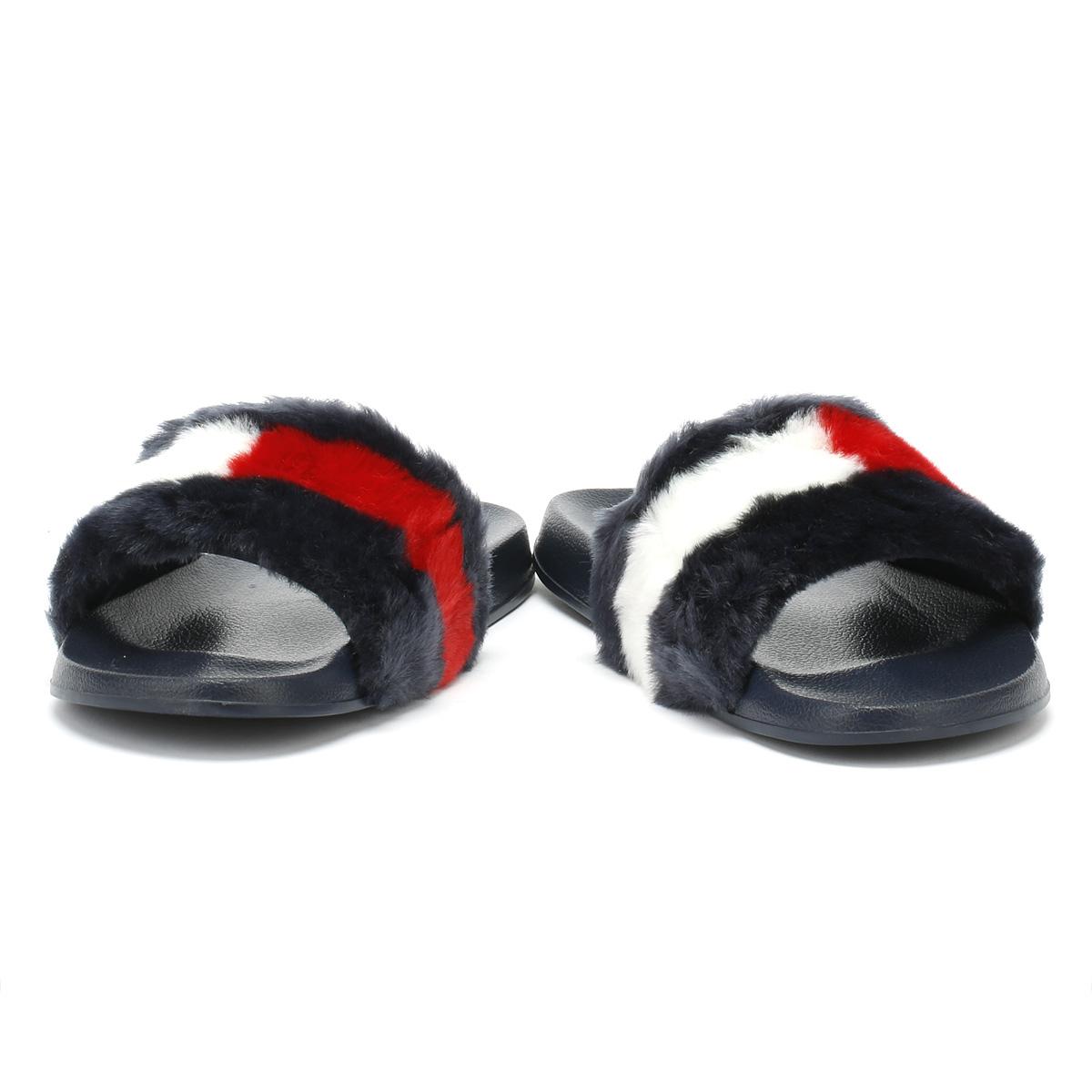 Tommy Hilfiger Damenschuhe Midnight Navy Funny Summer Fur Pool Slides Summer Funny Beach Sandales 7b10b1