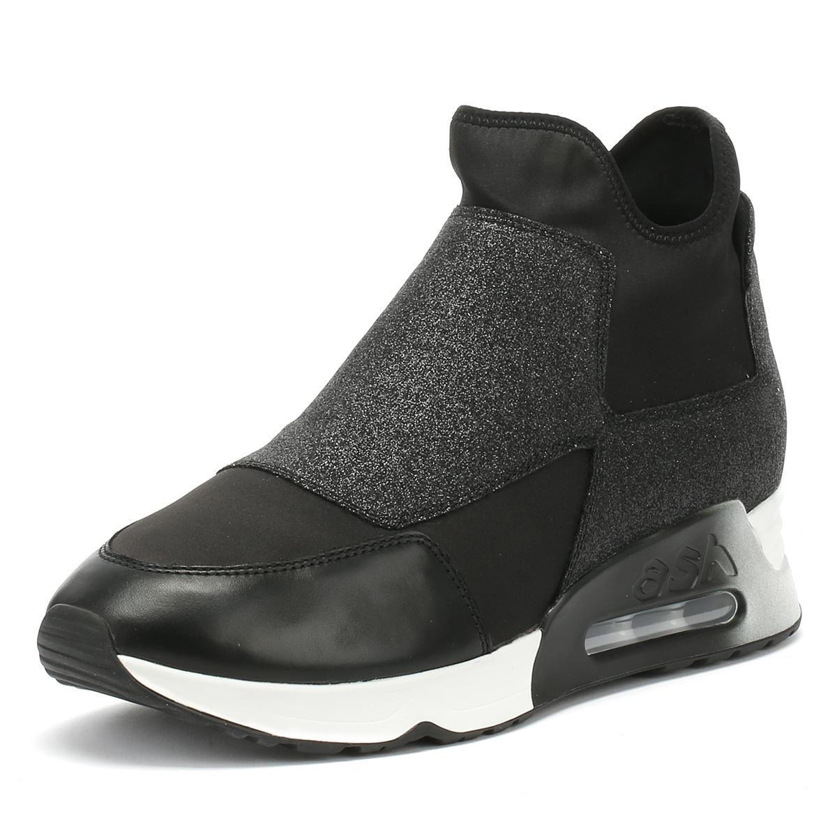 c2b7ff83de5d00 ... ash ash ash wo formateurs occasionnels Noir lazer glitz glisse sur les  chaussures de sport ...