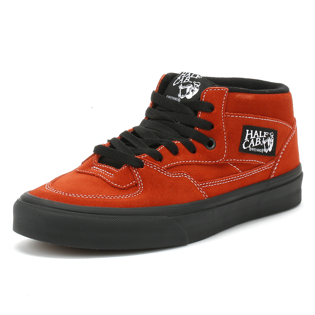 6d4730443daac5 Details about Vans Mens Trainers Bossa Nova Red   Black Half Cab Sport Skate  Shoes