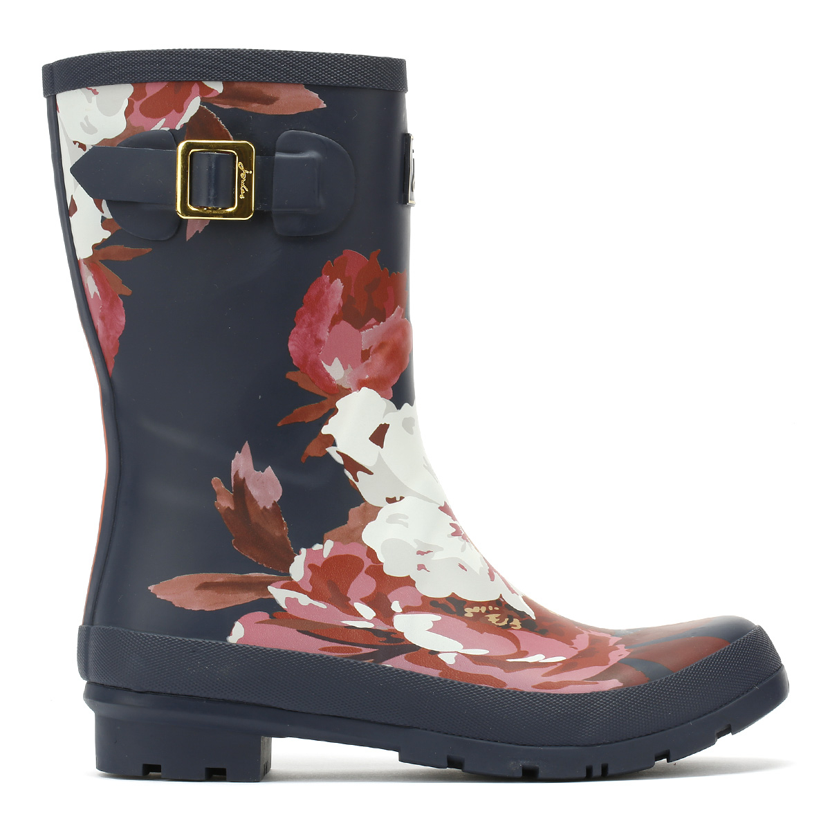 Joules Womens Wellington Boots Navy Bircham Bloom Rubber Wellies Molly Wellies Rubber bad967