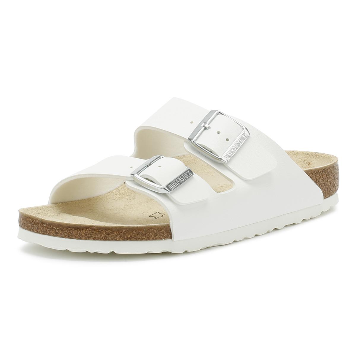 3459cfb6e71e56 Details about Birkenstock White Arizona Birko Flor Sandals Unisex Summer  Casual Shoes