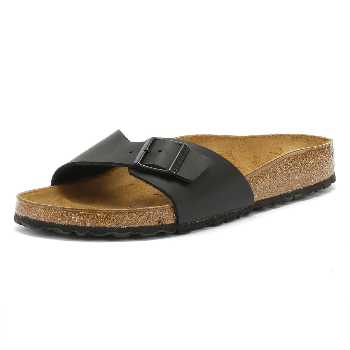 18cdf68098f5 Details about Birkenstock Womens Black Madrid Birko Flor Sandals Summer  Casual Slides