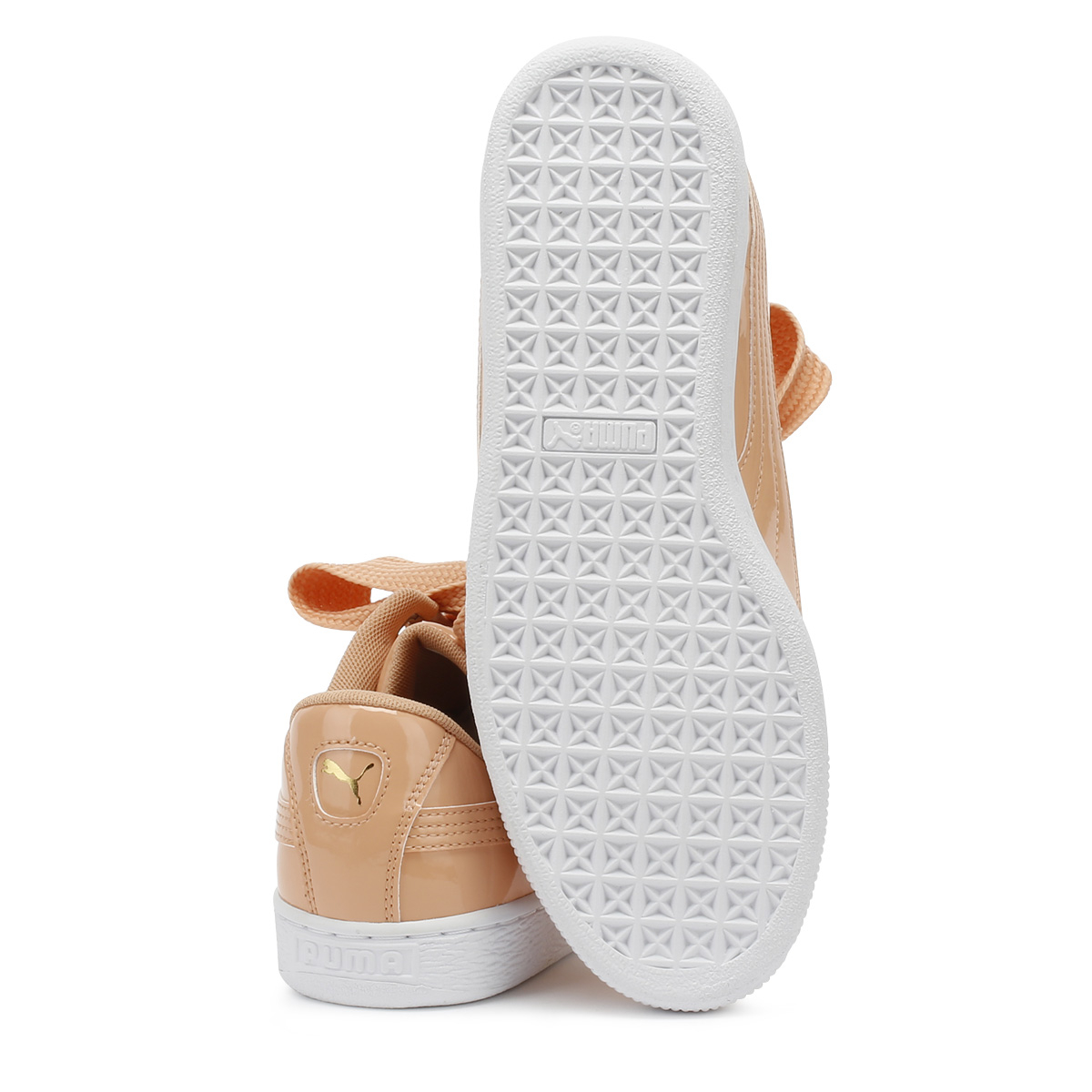 314807a77ca6f6 PUMA Womens Trainers Dusty Coral Basket Heart Patent Sport Casual Shoes
