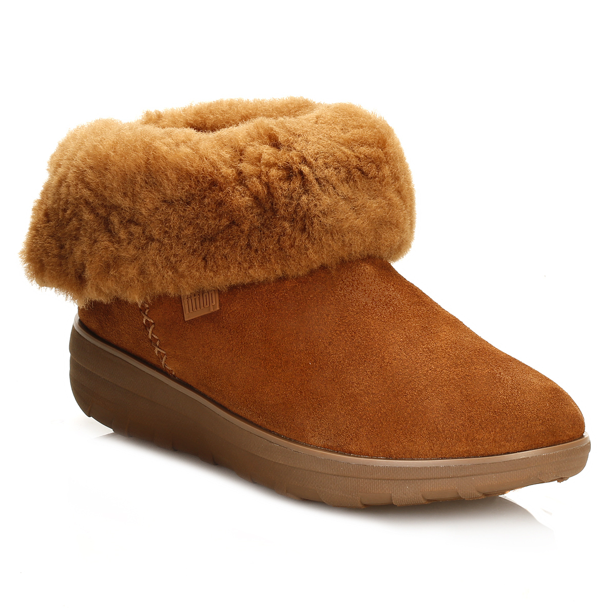 827979652874e FitFlop-Womens-Tan-Brown-Suede-Boots-Mukluk-Shorty-