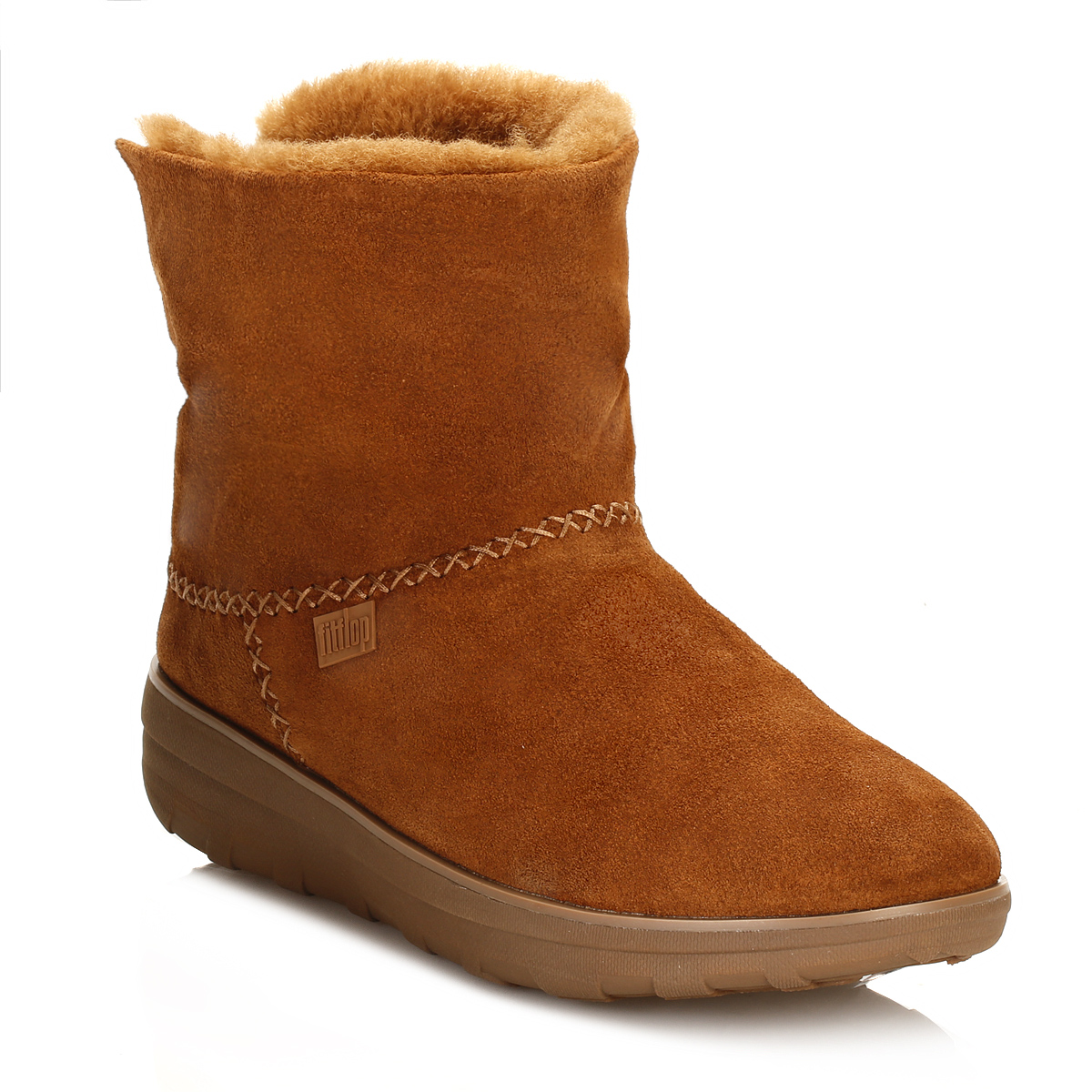 39ff182a2d708 FitFlop-Womens-Tan-Brown-Suede-Boots-Mukluk-Shorty-