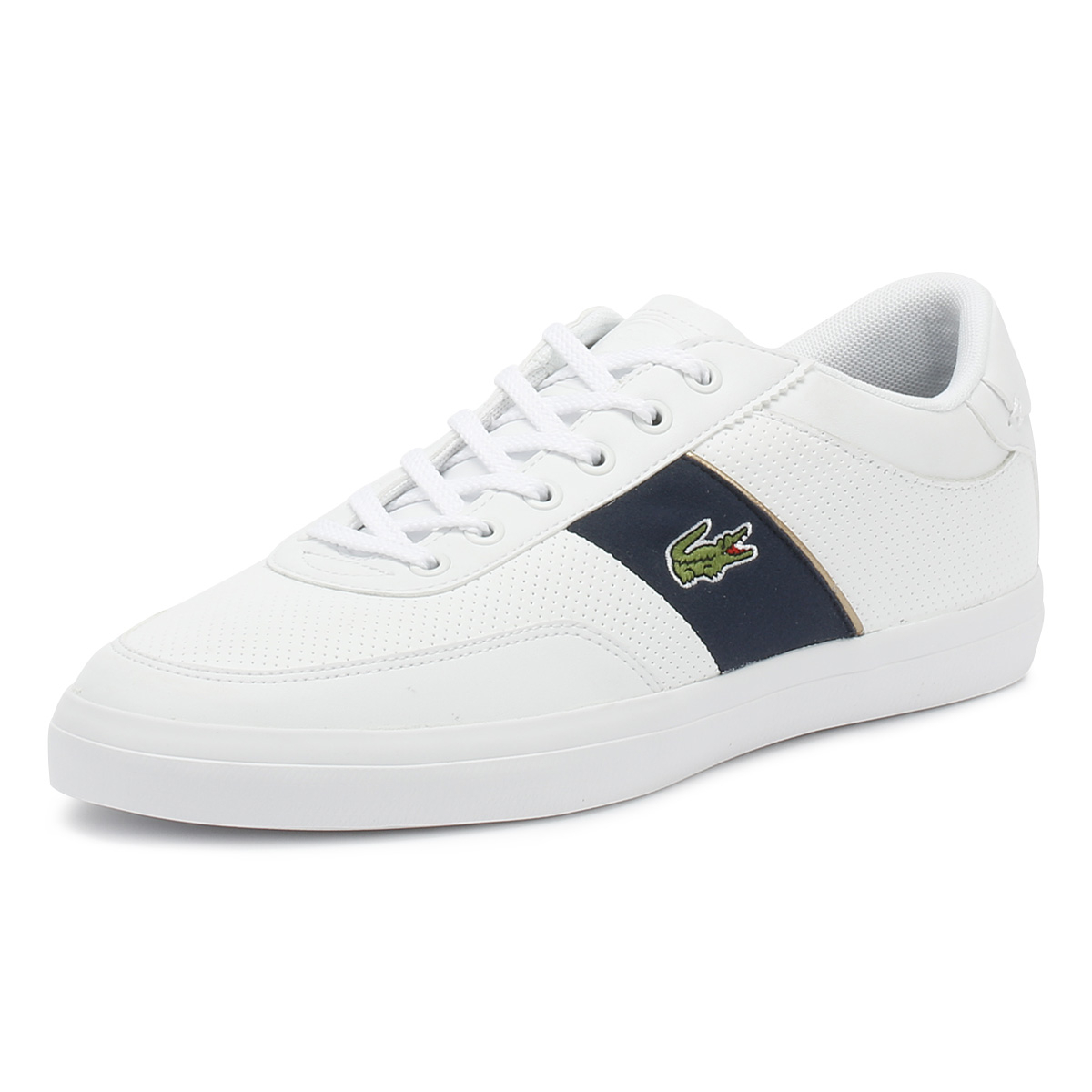 18b23d316b21c5 Details about Lacoste Mens Trainers White   Navy Court Master 318 1 Sport  Casual Shoes