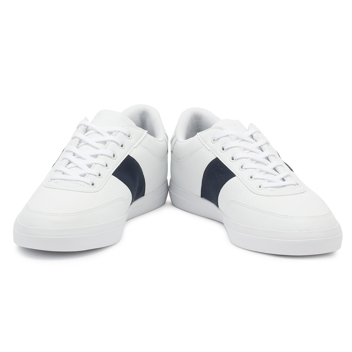 700edb00ee578f Lacoste Mens Trainers White   Navy Court Master 318 1 Sport Casual Shoes