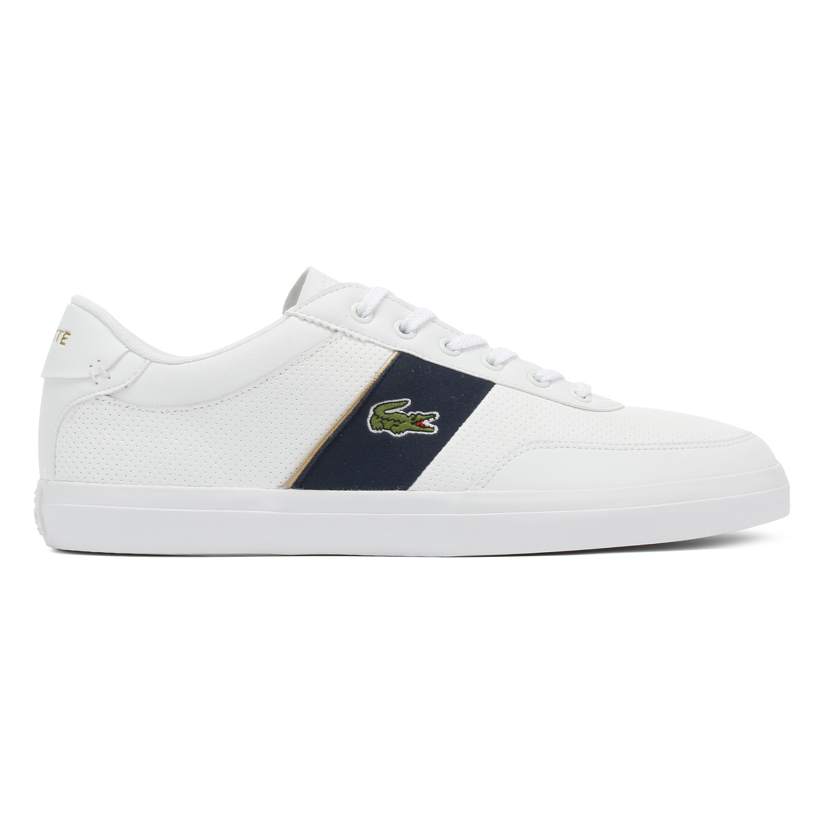 Lacoste 1 Mens 318 Navy Trainers White Master scarpe Court Sport casual rxrYd0qn4w