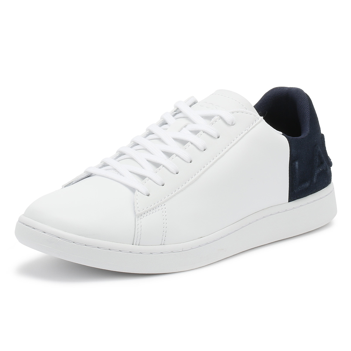 773428ce792458 Lacoste Mens Trainers White   Navy Carnaby EVO 318 6 Sport Casual Shoes