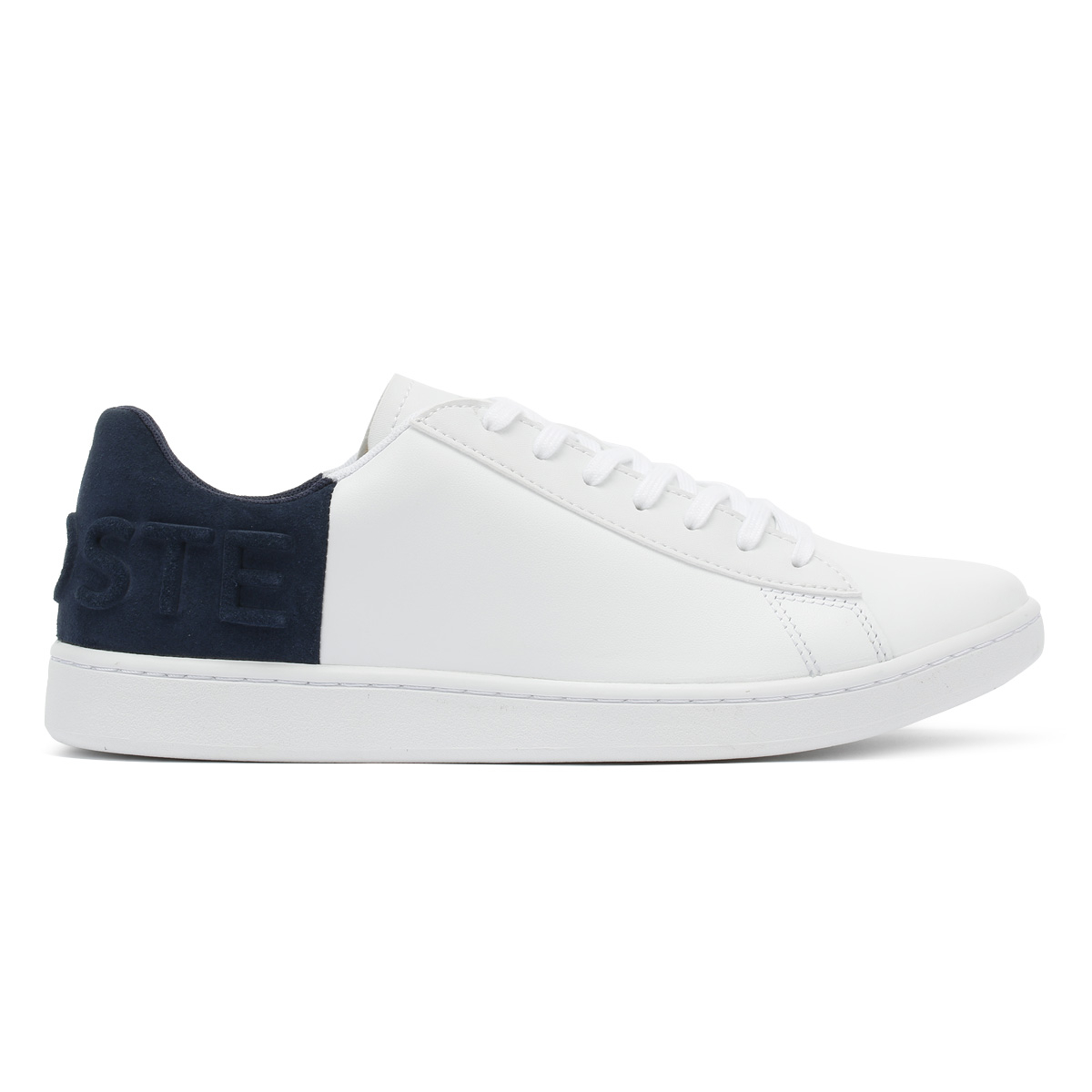 e76729a3cc Lacoste Womens Trainers White & Navy Carnaby EVO 318 3 Sport Casual Shoes