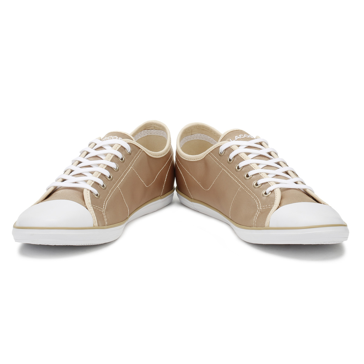 3ded18710b Lacoste Womens Trainers Gold & White Ziane 118 2 Lace Up Sport Casual Shoes