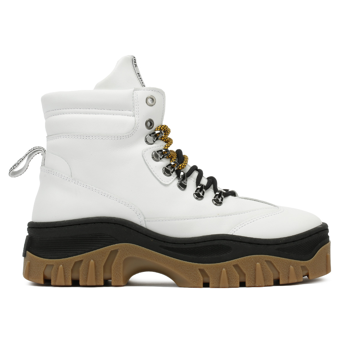 Details about Bronx Womens Chunky Trainers White & Black Jaxstar Hi Top Ankle Shoes Boots