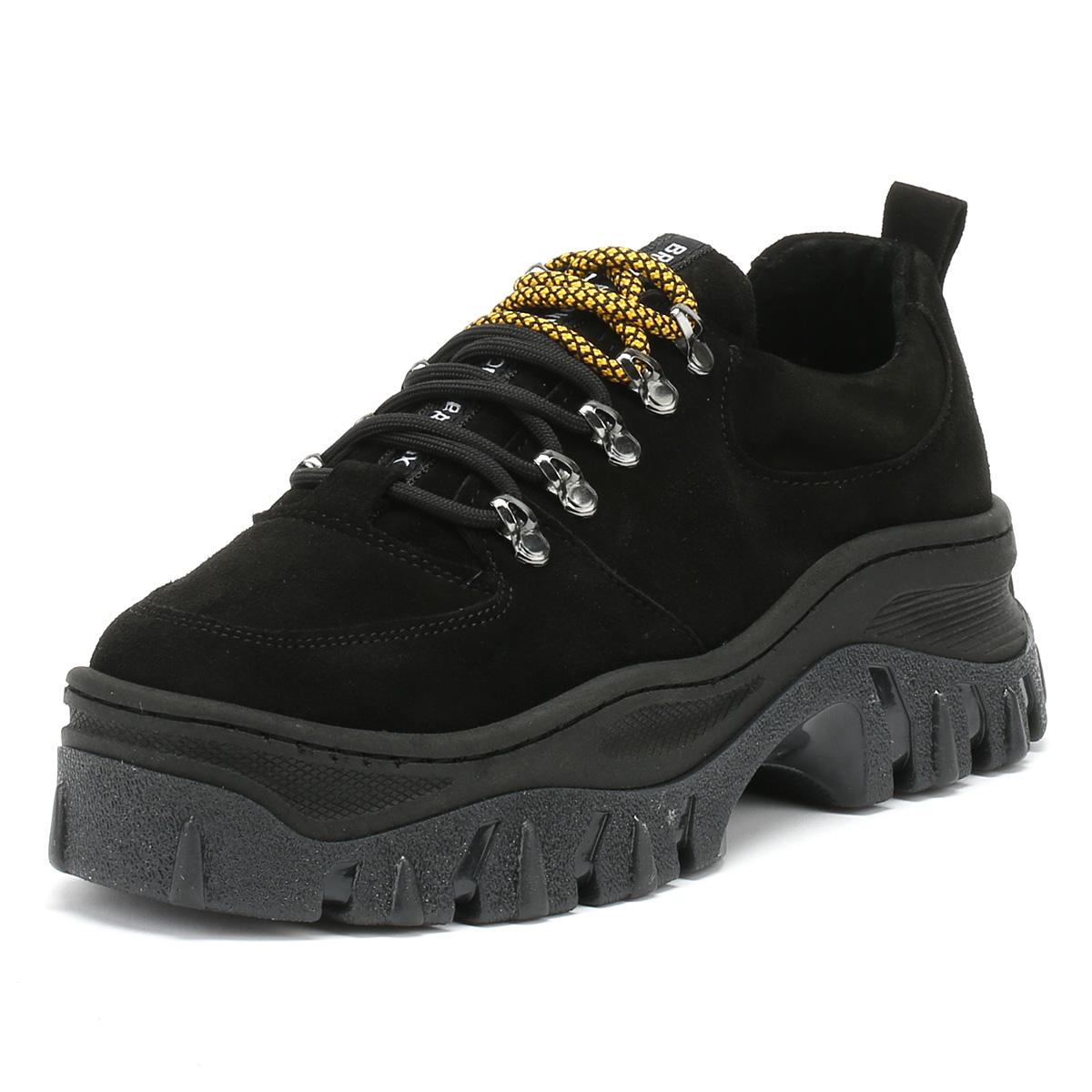 Bronx Bottines Femme Chunky Baskets Noir Jaxstar Lacets Sport Chaussures De Loisirs-afficher Le Titre D'origine