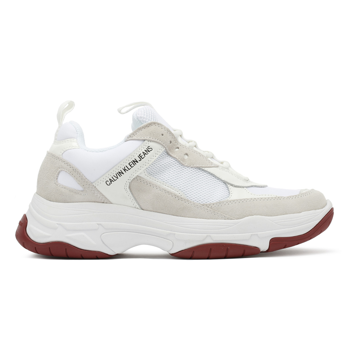 421735faf Calvin Klein Jeans Womens Trainers White Maya Chunky Lace Up Sport ...