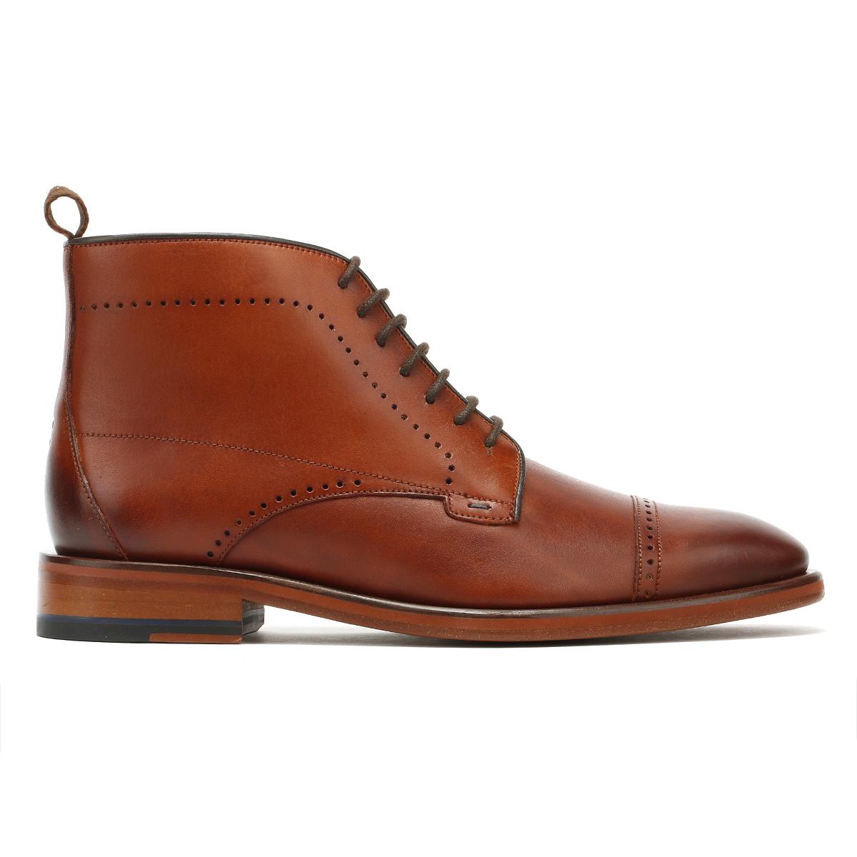 Oliver Sweeney Armadale Tan Braun  Uomo Stiefel Leder Leder Leder Lace Up Brogue Ankle Schuhes b47f37