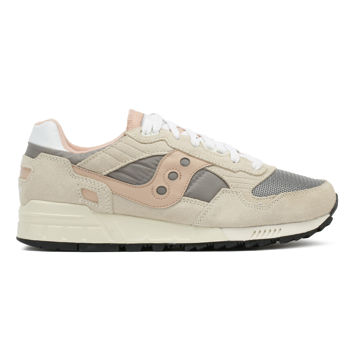 Saucony Damenschuhe Trainers Grau & Pink Shadow 5000 5000 5000 Vintage Sport Casual Schuhes 654014