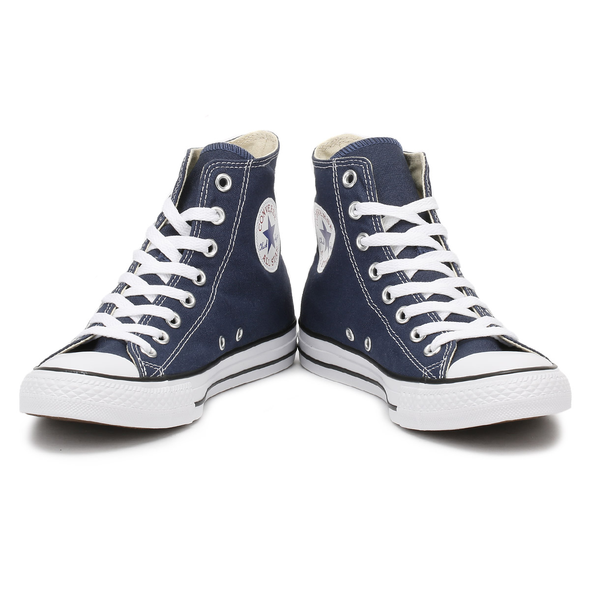 9dfa4dc2cfa2 Converse Mens Womens Trainers Navy Blue All Star Hi Tops Unisex Canvas  Sneakers