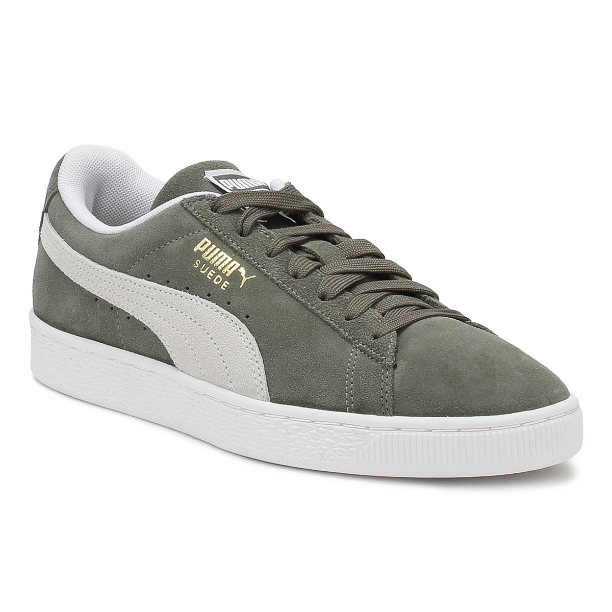 PUMA  Uomo Up Classic Trainers Castor Grau Suede Lace Up Uomo Casual Schuhes 56eb87