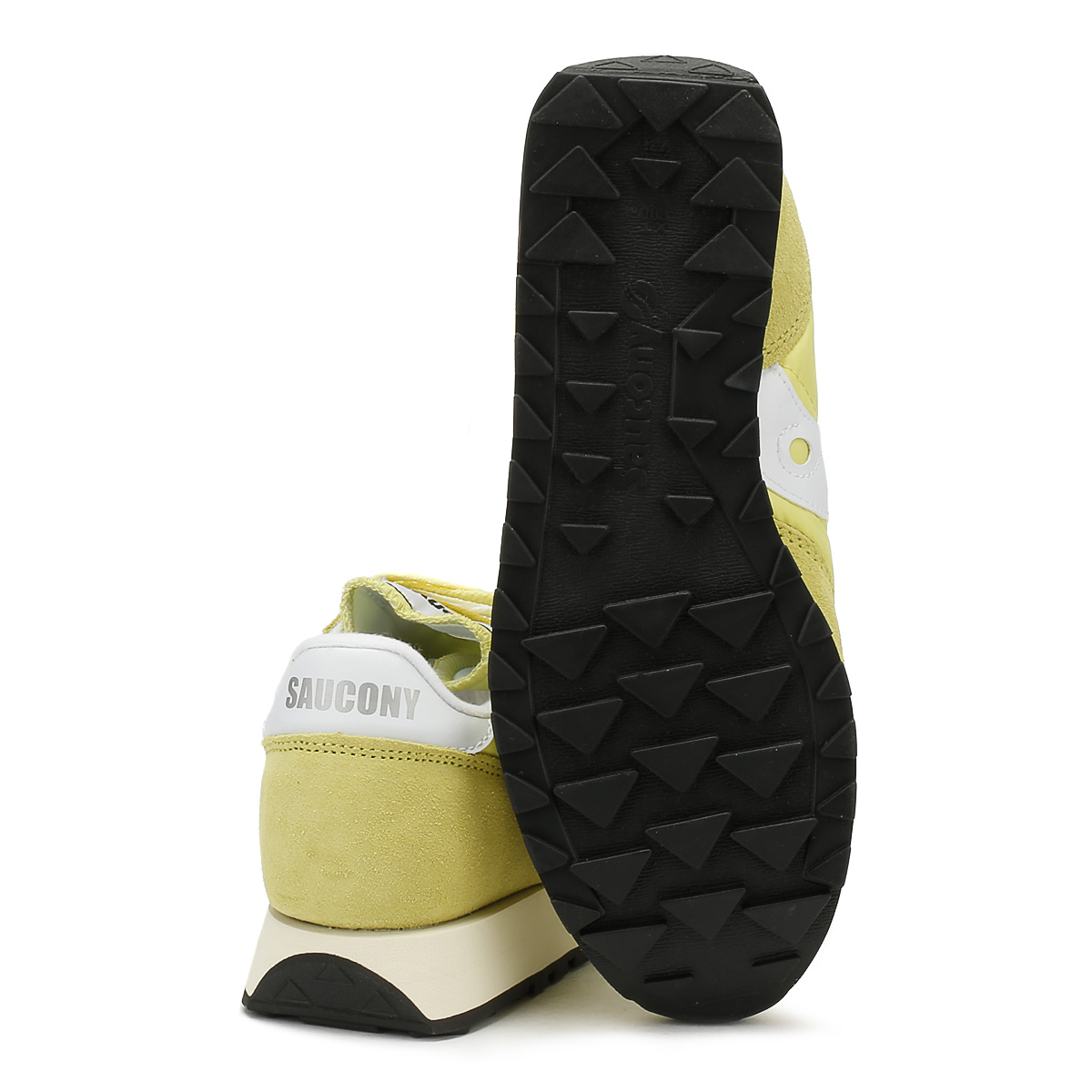 Saucony Womens Yellow Up Jazz Original Trainers Lace Up Yellow Vintage Casual Shoes 088aa7