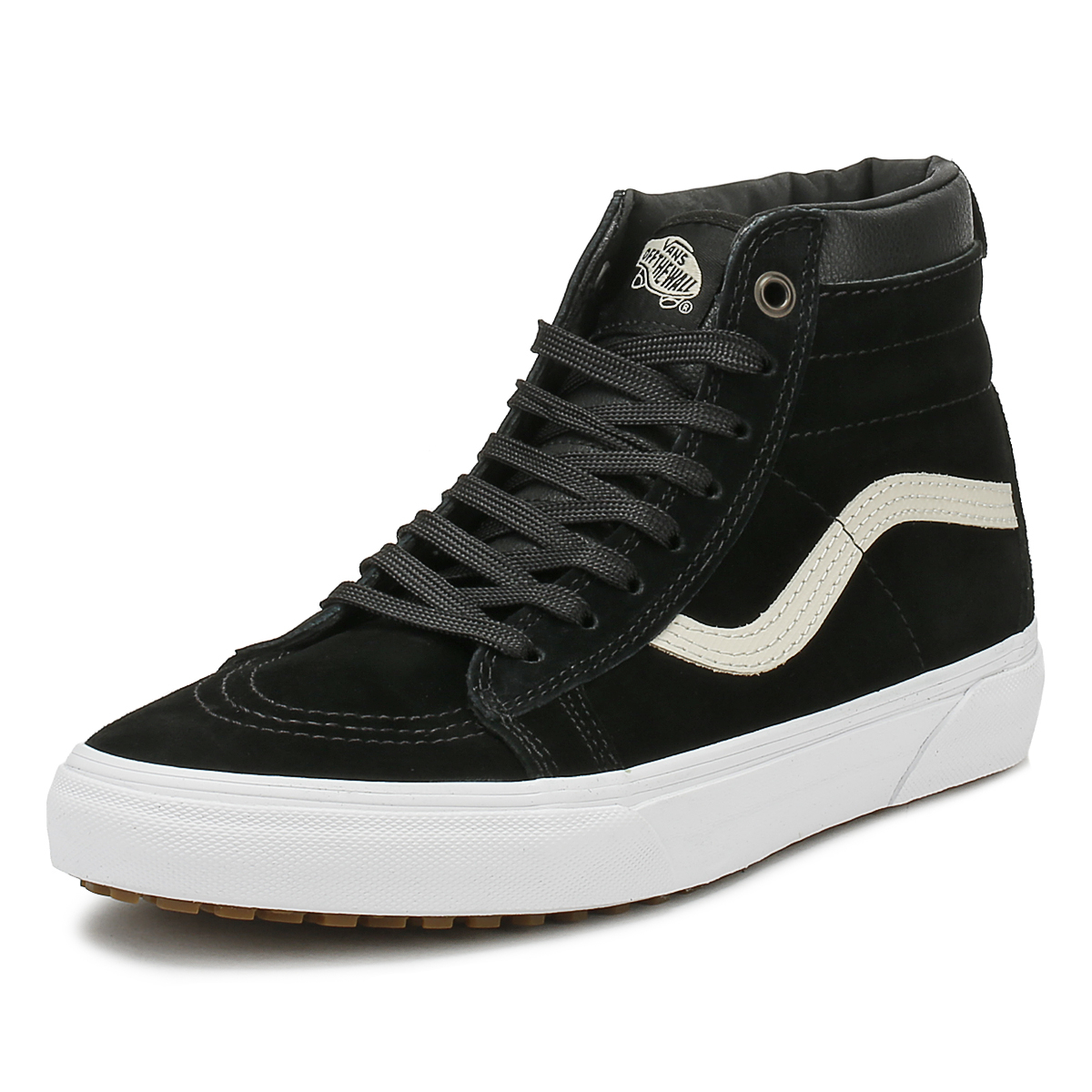 564b3e2963 Details about Vans Mens Black Night SK8-Hi MTE Trainers Leather Lace Up Skate  Shoes High Tops