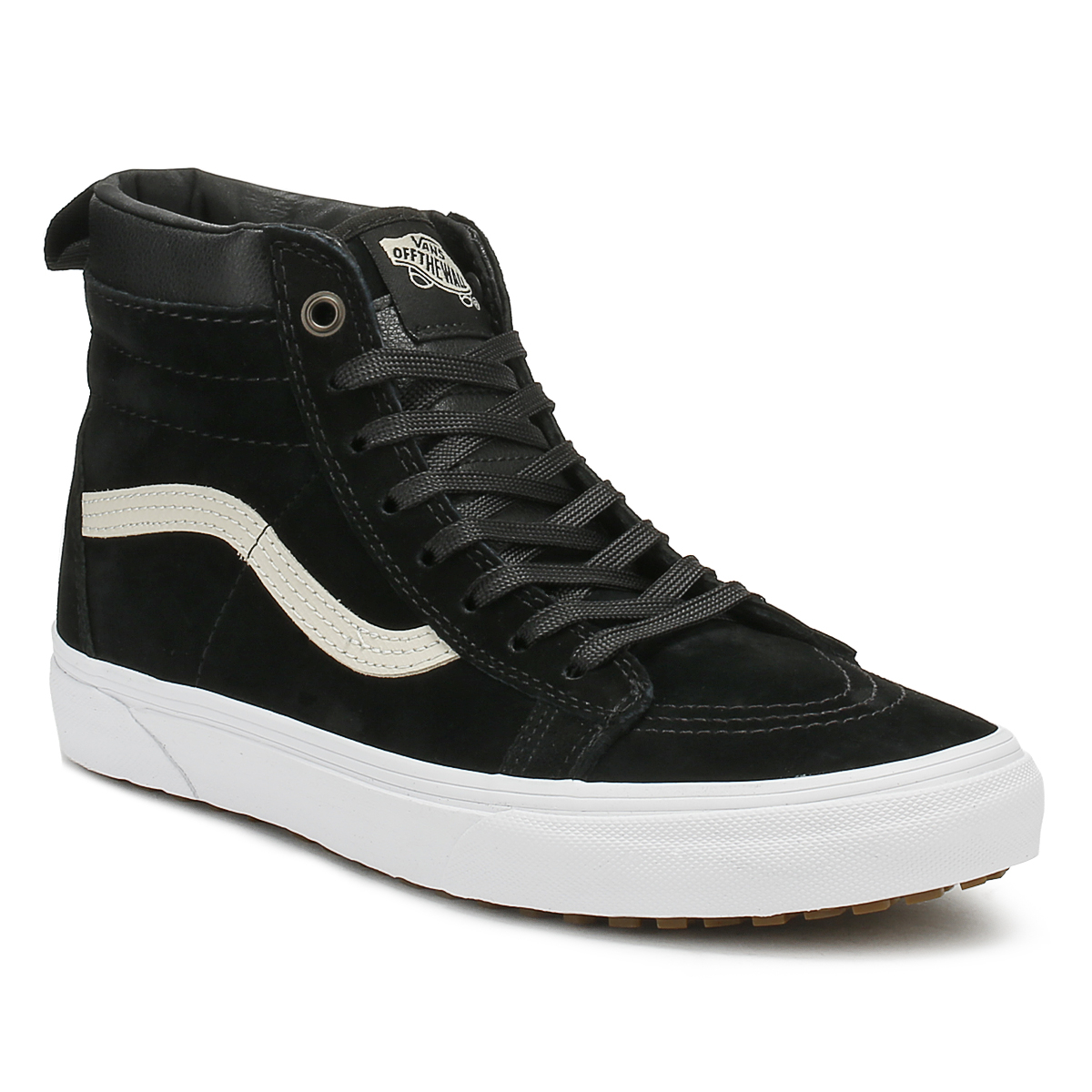 44be44ddeb9f Vans Mens Black Night SK8-Hi MTE Trainers Leather Lace Up Skate Shoes High  Tops