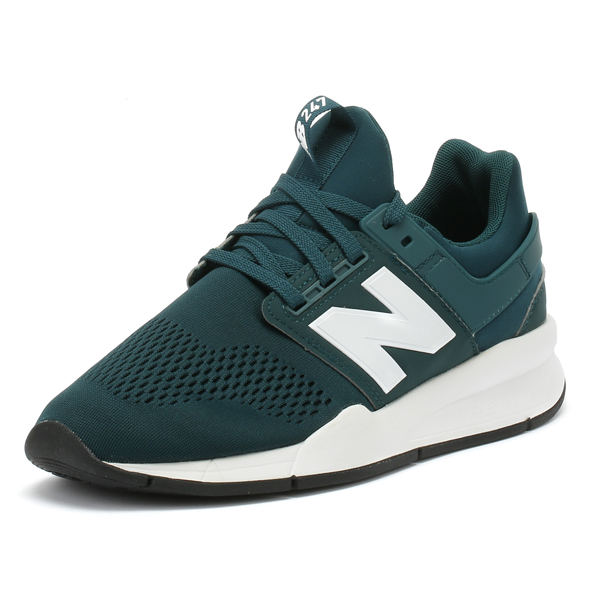 06df9d940c Details about New Balance Mens Trainers 247 Deep Jade Green & White Sport  Casual Running Shoes