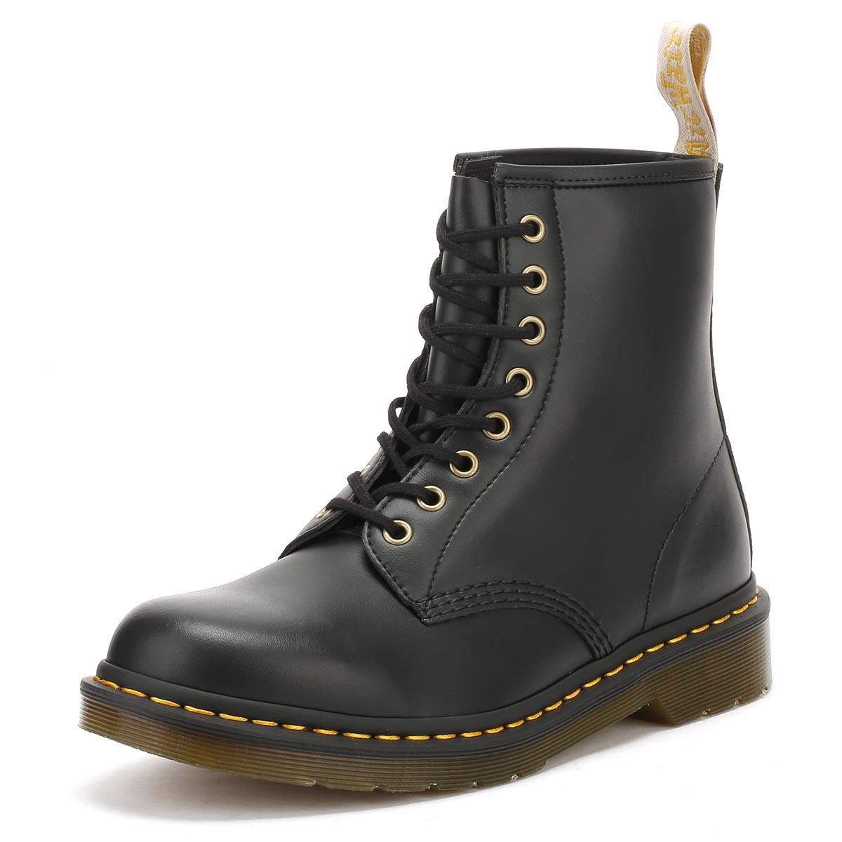 42487d6fa8d Details about Dr Martens Unisex Casual 1460 Ankle Boots Black Felix Rub Off  Vegan Lace Up Docs