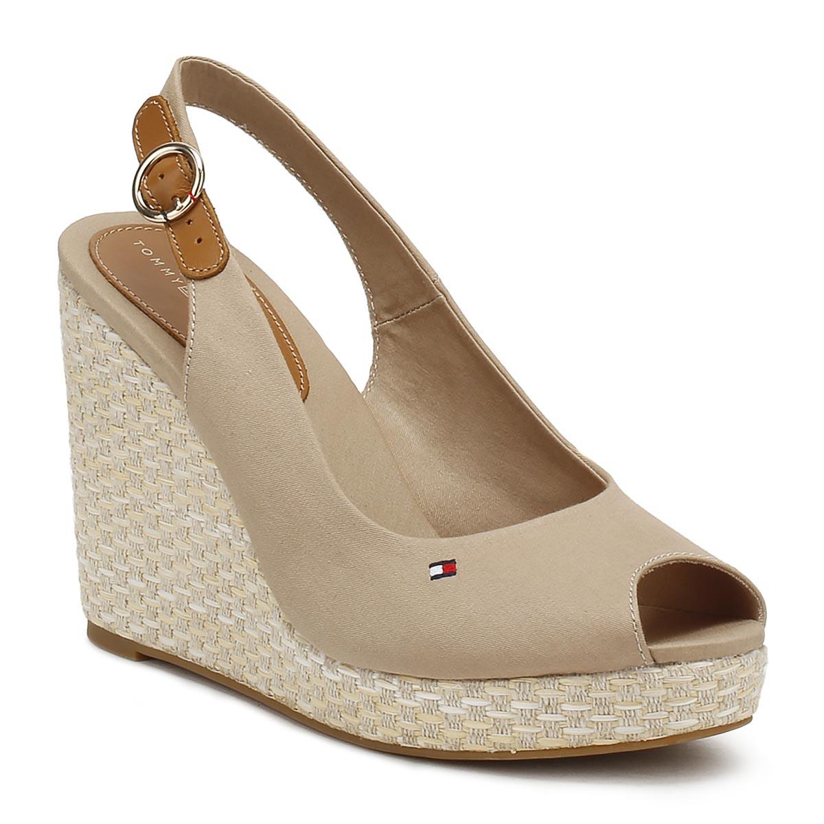 12a36c8d6 Tommy Hilfiger Womens Wedge Sandals Cobblestone Grey Elba Peep Toe ...