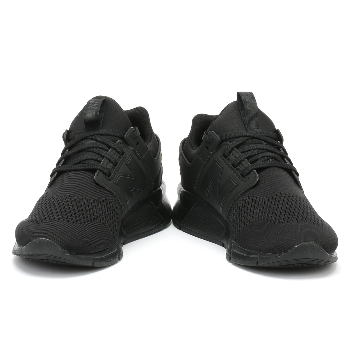 a0a097dd Details about New Balance Mens Trainers 247 Black & Black Sport Casual  Running Shoes