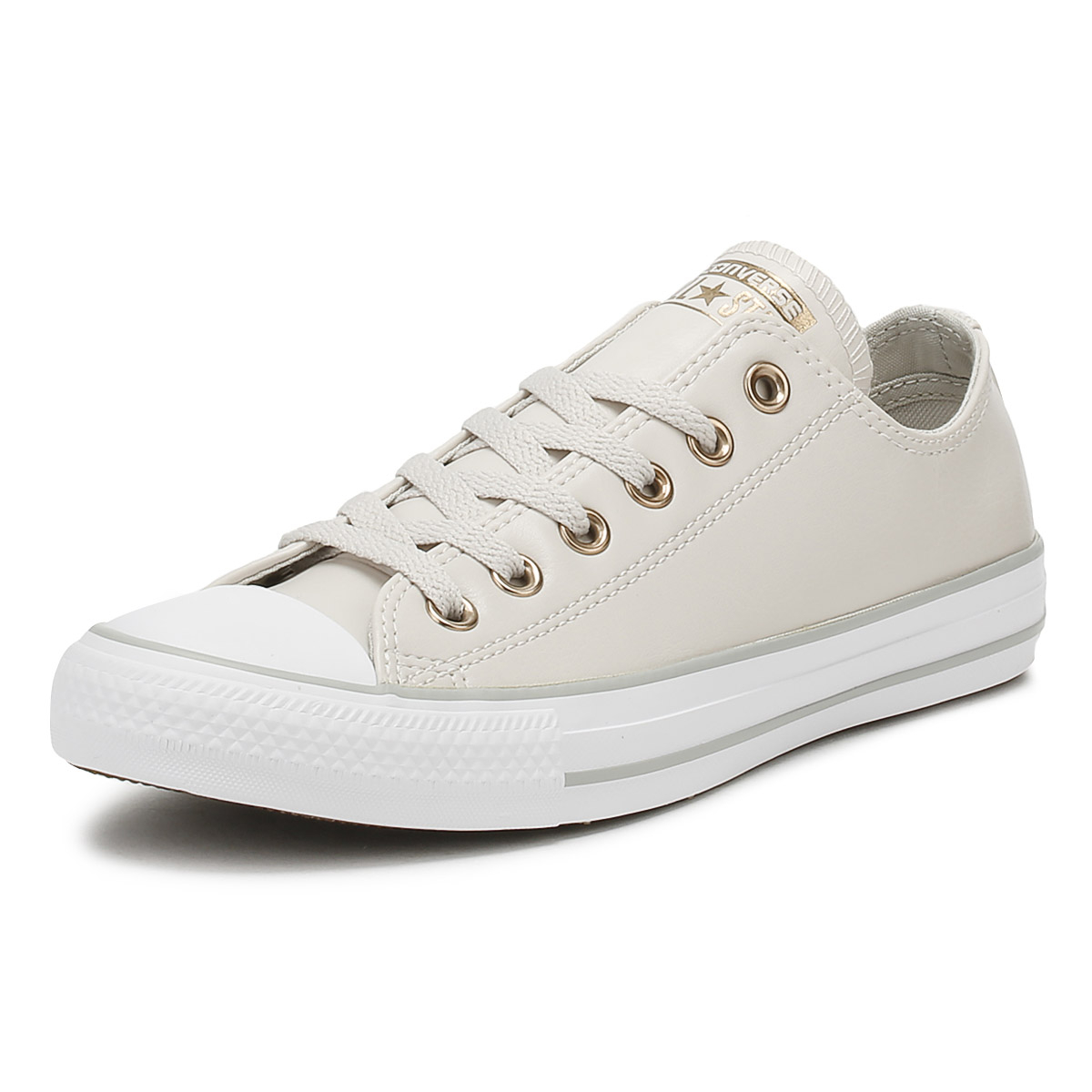 Converse Chuck Taylor All Star Womens Ox Trainers Pale Putty Yellow Shoes aec3fc185