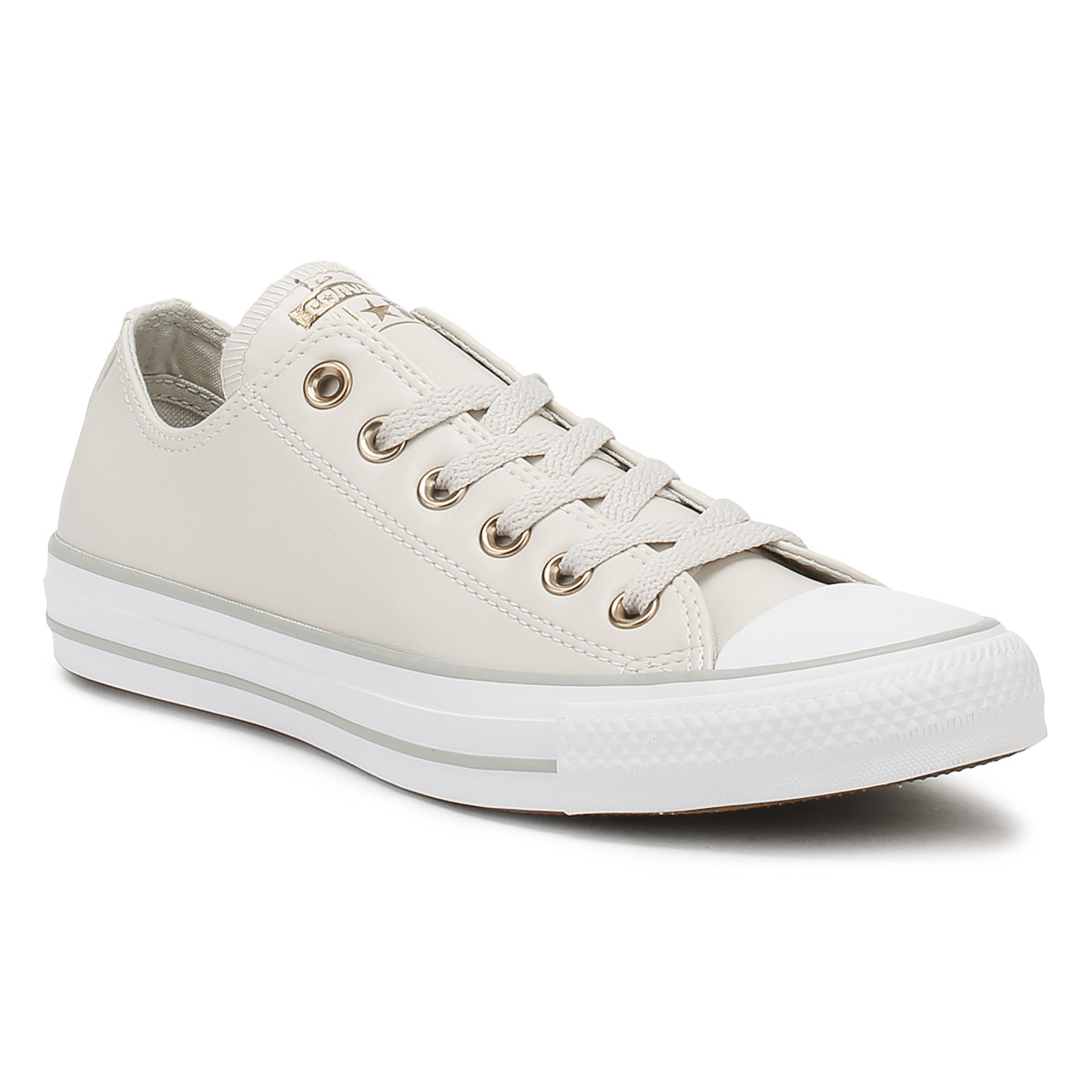 30b4f2c149ea0e Details about Converse Chuck Taylor All Star Womens Ox Trainers Pale Putty  Yellow Shoes