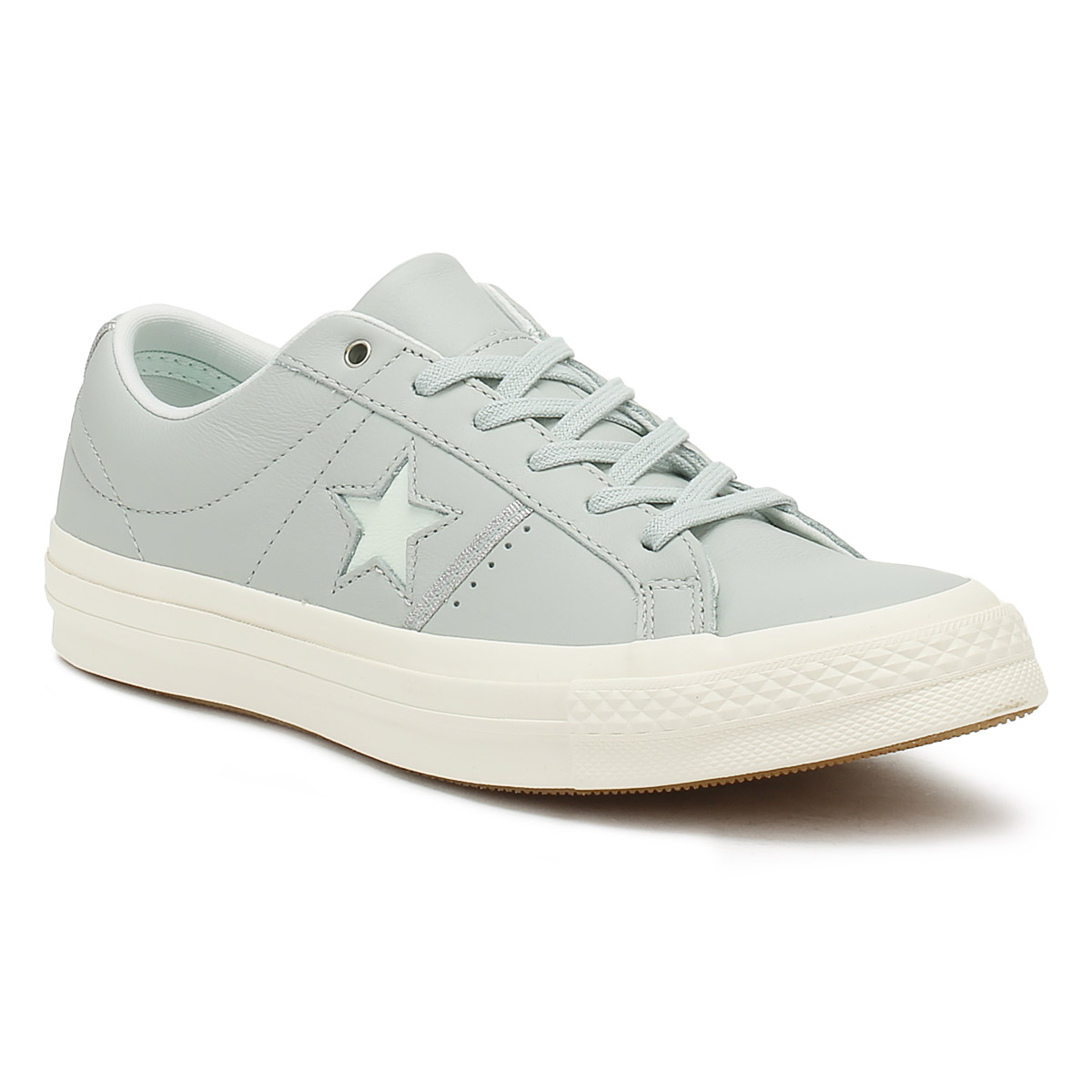 Converse One Star Damenschuhe Dried Bamboo Blau Up Ox Trainers Leder Lace Up Blau Schuhes a31933