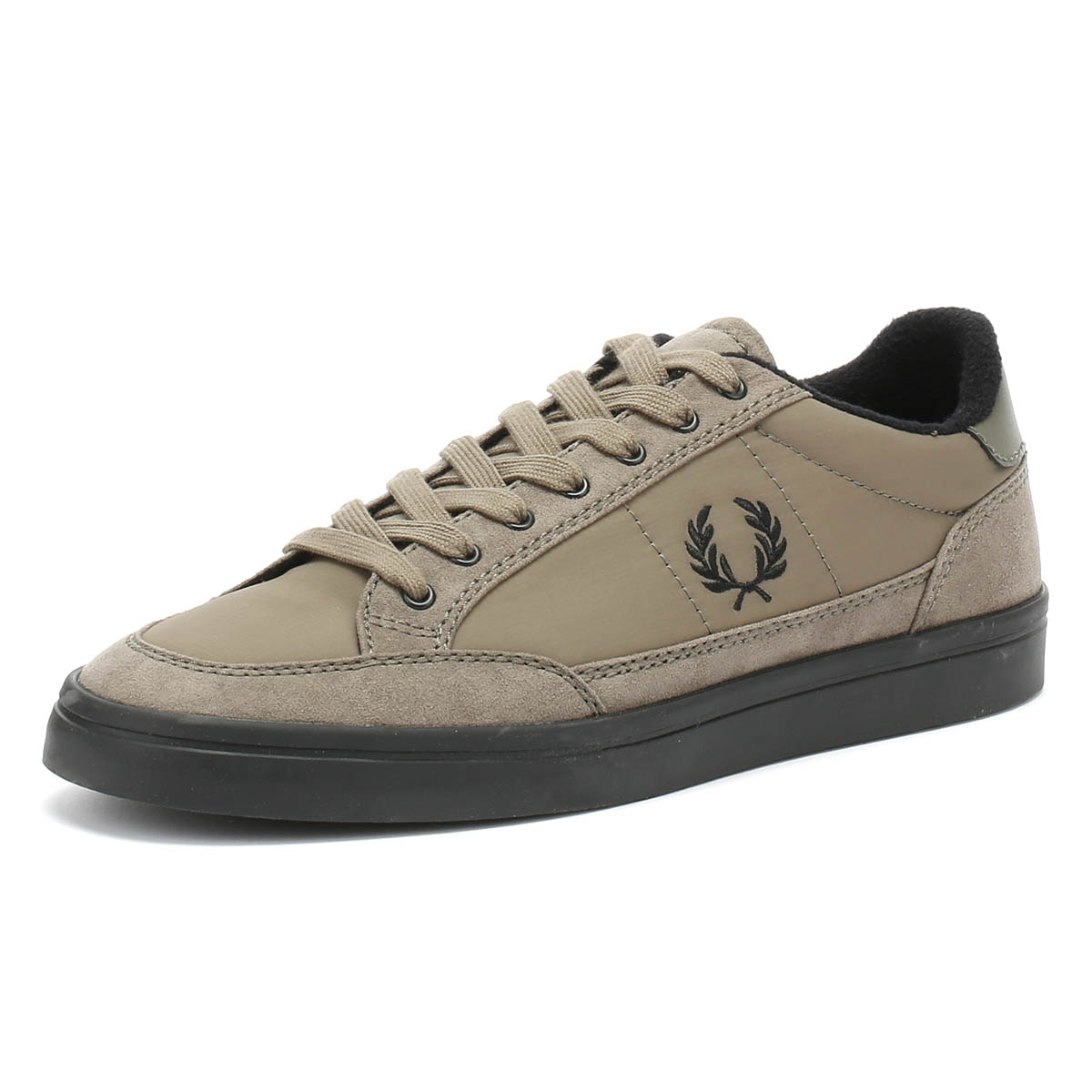 2620d3c81 Details about Fred Perry Mens Trainers Dust Beige Deuce Winterised  Microfibre Casual Shoes