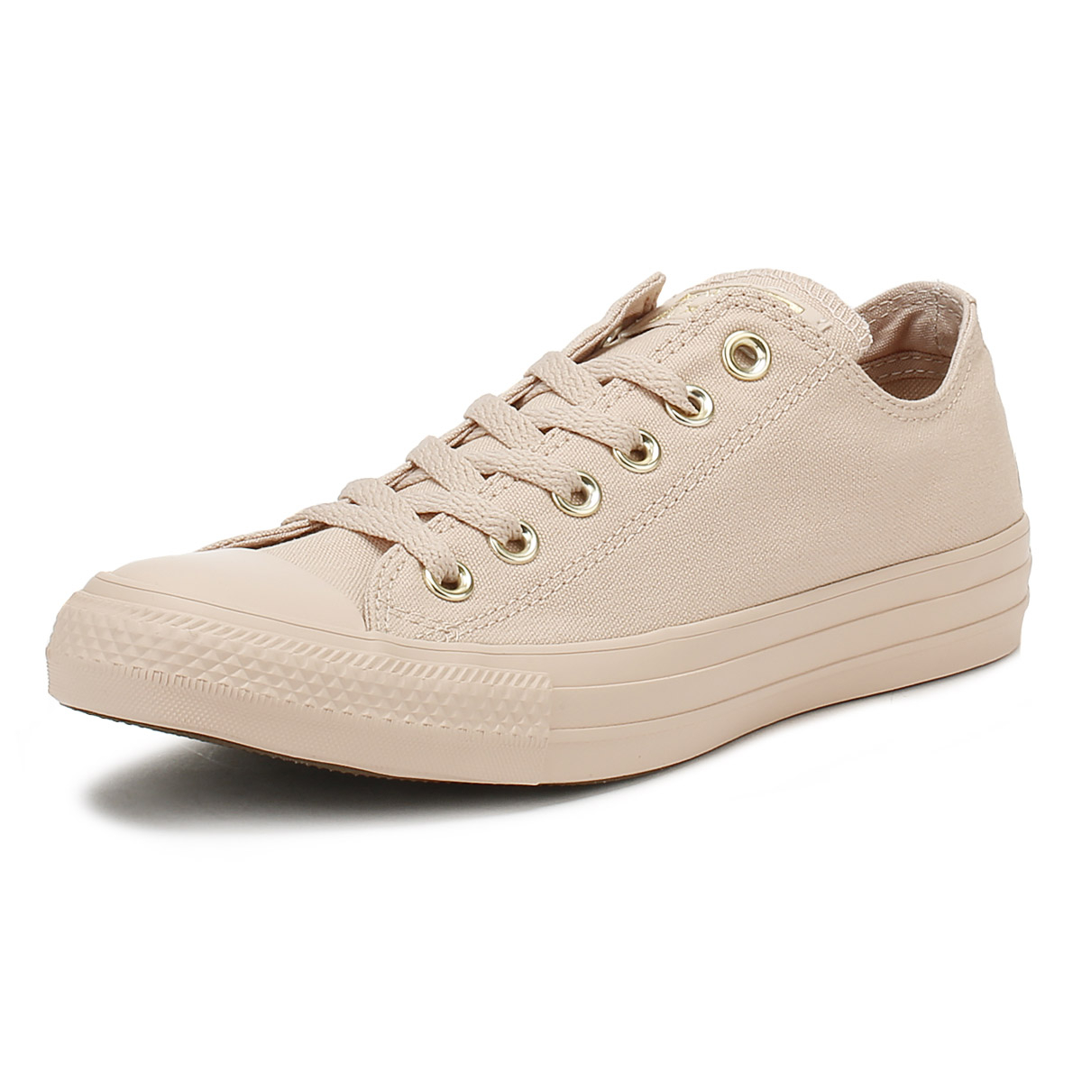 bdcfb29b10ca Details about Converse Chuck Taylor All Star Womens Ox Trainers Particle  Beige Lace Up Shoes