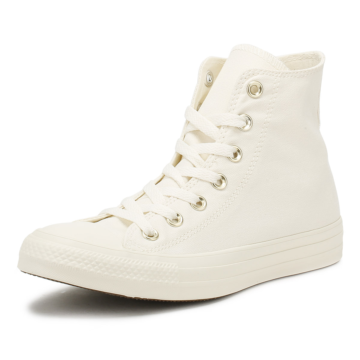 2144303cb73685 Details about Converse Chuck Taylor All Star Womens Hi Trainers Egret    Gold Lace Up Shoes