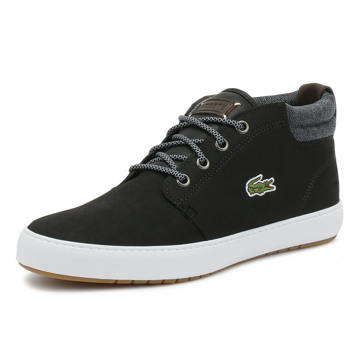 859a9f9d5 Details about Lacoste Mens Trainers Ampthill Terra 318 1 Black   Grey Sport  Casual Shoes
