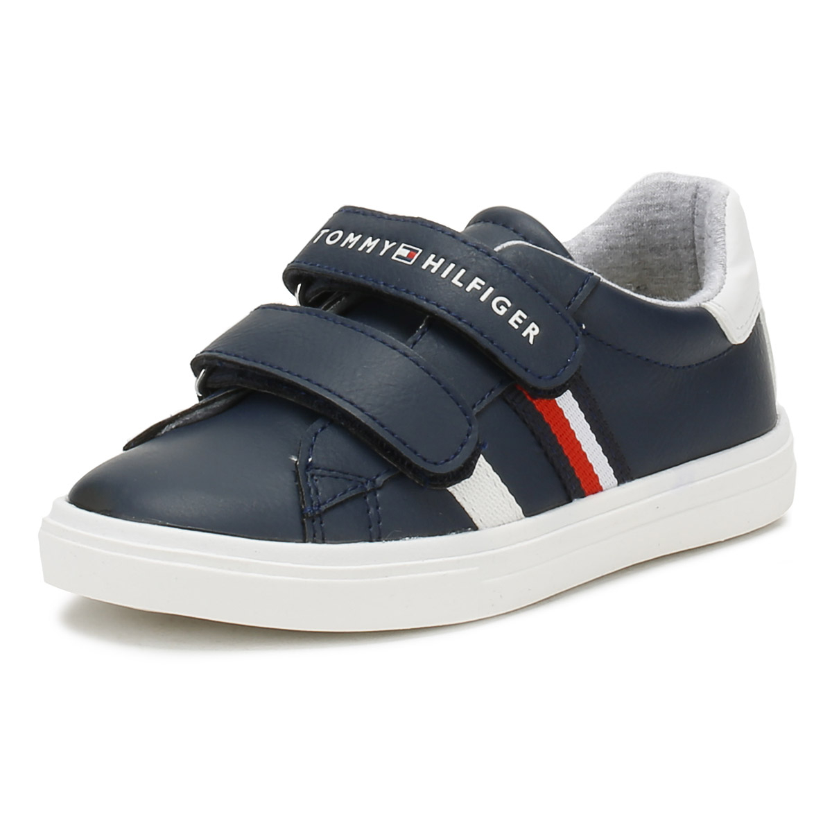 a80750fdf3e38 Details about Tommy Hilfiger Toddlers Midnight Blue T1X4 V Trainers Hook    Loop Kids Shoes
