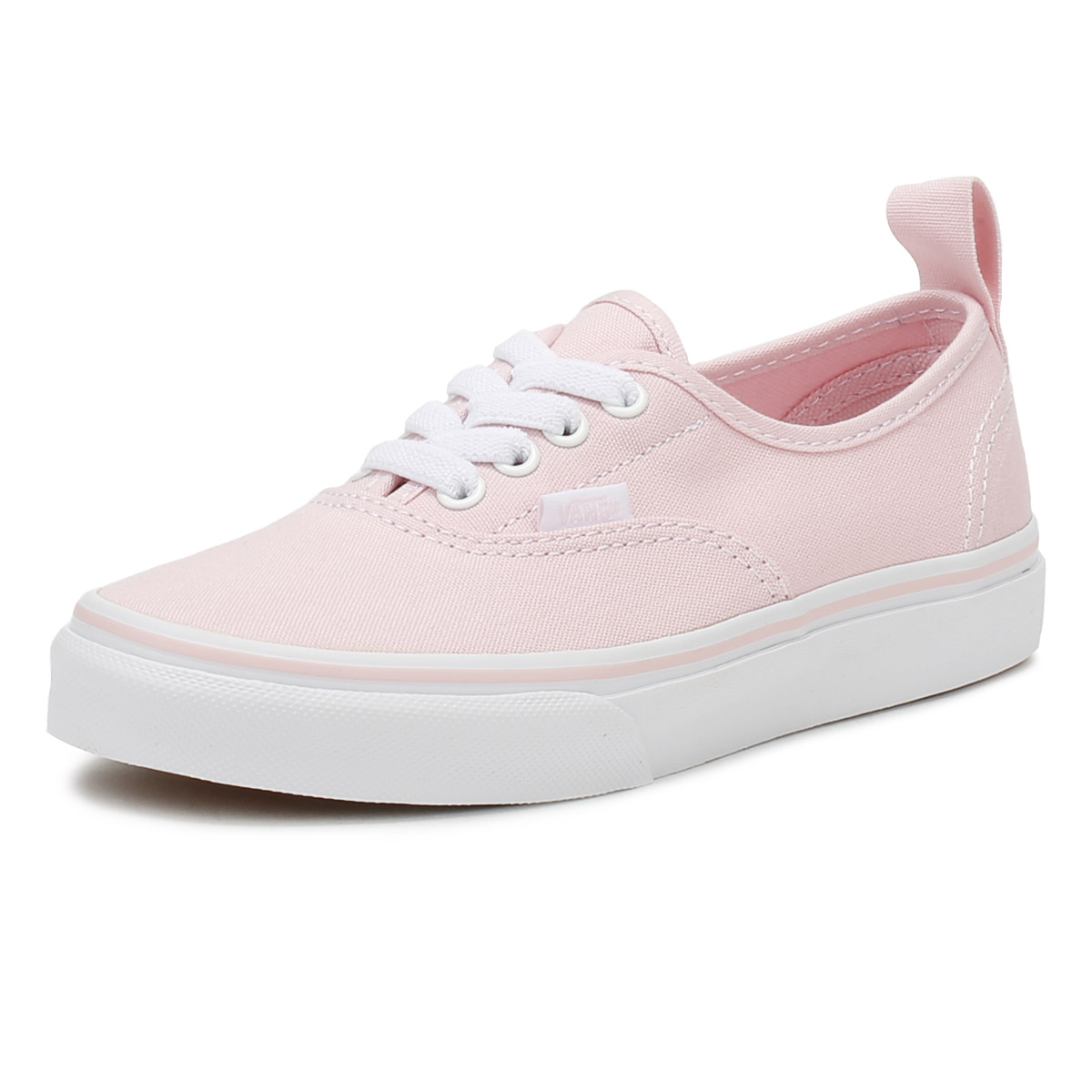 36bfa28515 Details about Vans Kids Chalk Pink   True White Authentic Trainers Girls  Skate Shoes
