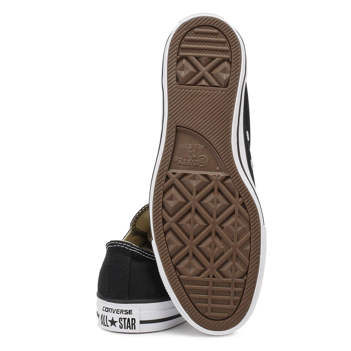 Converse Unisexe Noir All Chaussures Star Ox Baskets Hommes Femmes Toile Baskets Chaussures All 772c2a