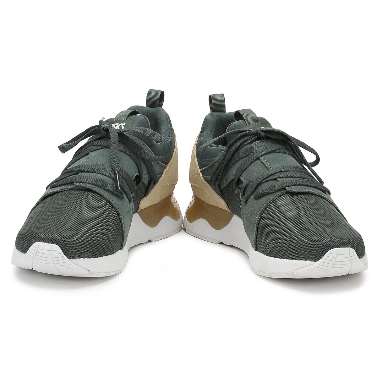 asics gel vert foncé sanze et d'hommes formateurs occasionnels lyte v sanze foncé chaussures de sport feb08f