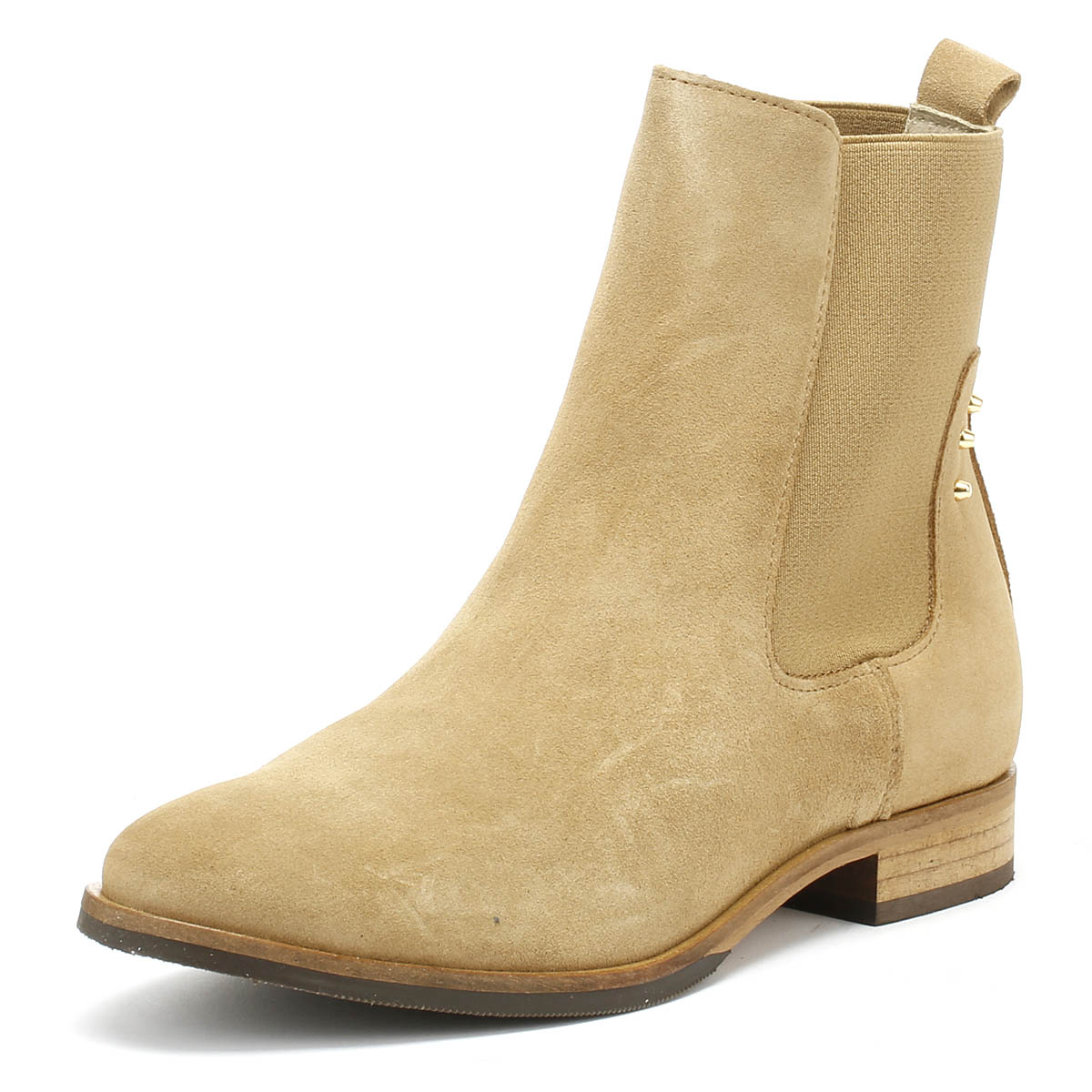 fda18cf41df Shoe The Bear Marla Womens Boots Sand Beige Suede Winter Ankle Shoes ...