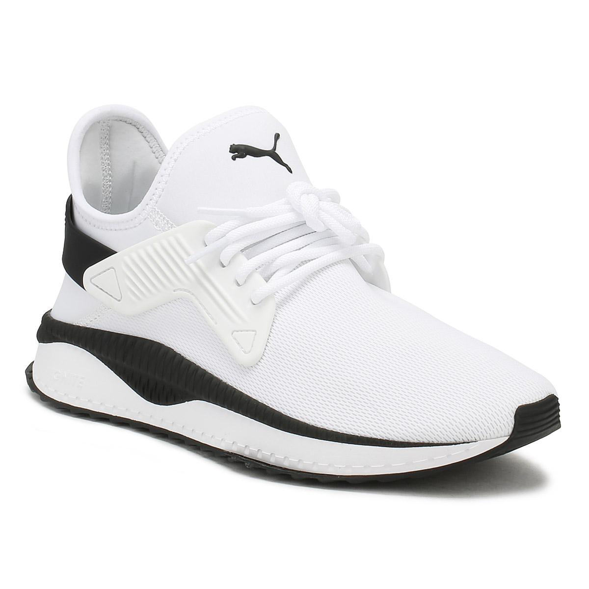 PUMA Hombre Blanco Tsugi Cage Trainers Lace Up Sport Sport Sport Casual Zapatos fba971