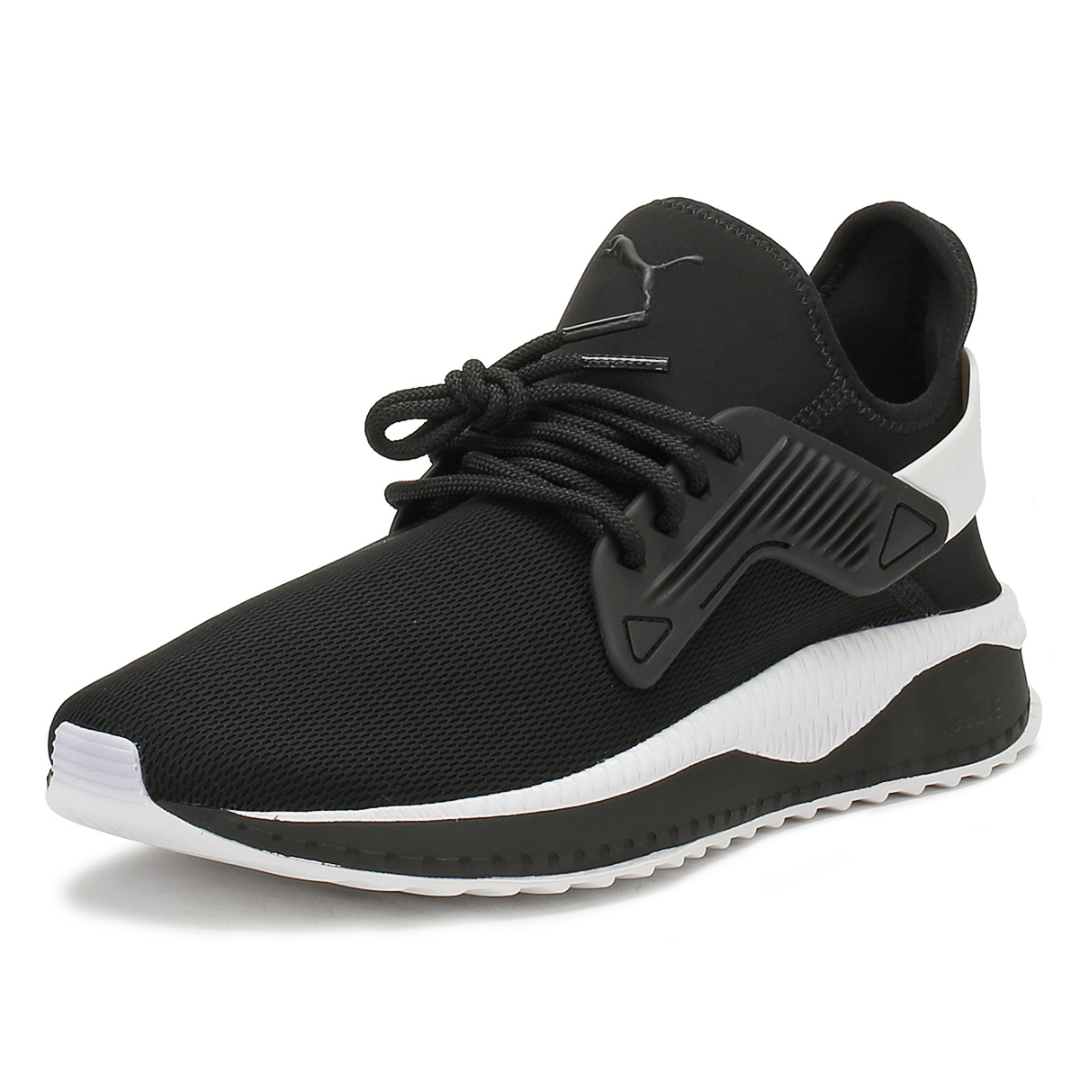 5225e7ca488 Details about PUMA Mens Black Tsugi Cage Trainers Lace Up Sport Casual Shoes