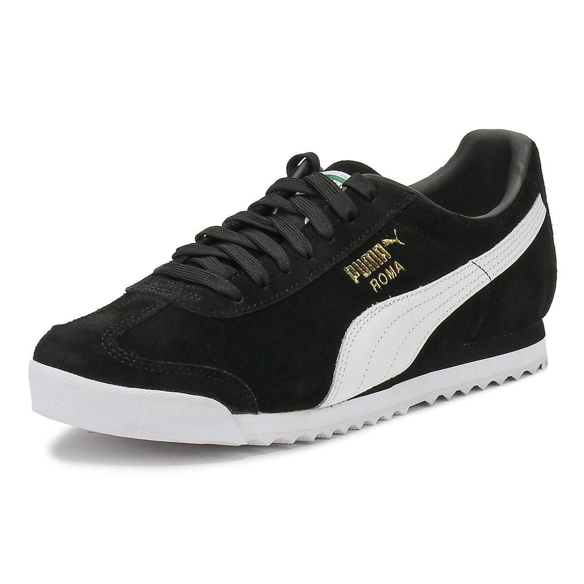 b6dd43462df0 Details about PUMA Mens Trainers Black Suede Roma Lace Up Sports Casual  Shoes
