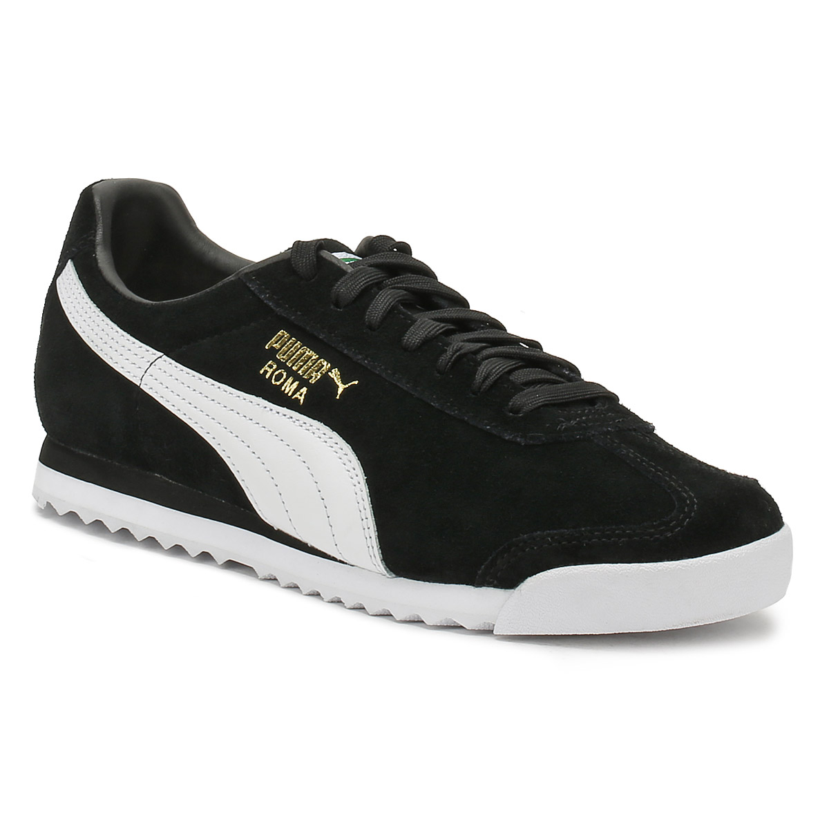 Details about PUMA Mens Trainers Black Suede Roma Lace Up Sports Casual  Shoes 588cdf190