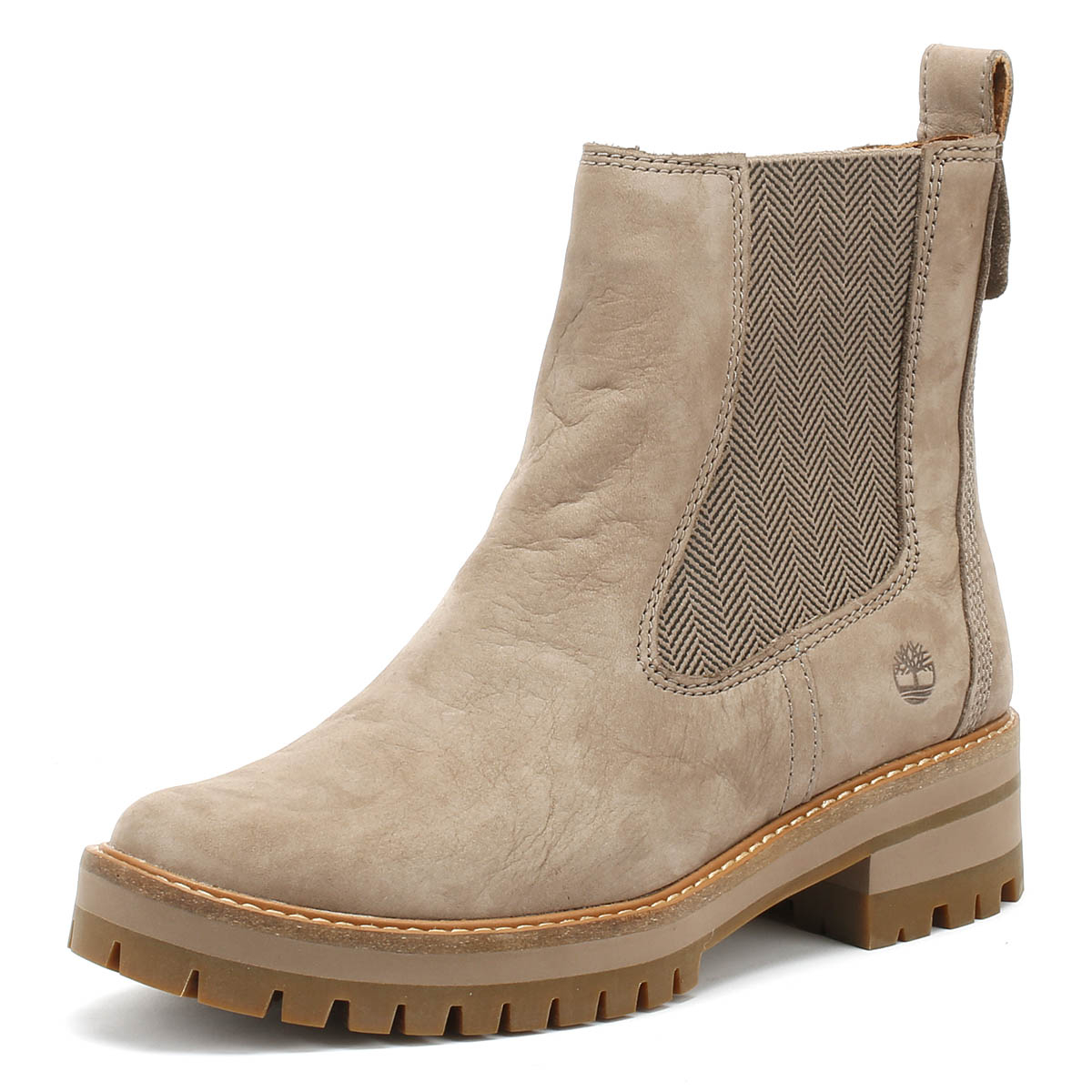 69e46176b98aa Details about Timberland Womens Boots Taupe Courmayeur Valley Chelsea  Winter Ankle Shoes