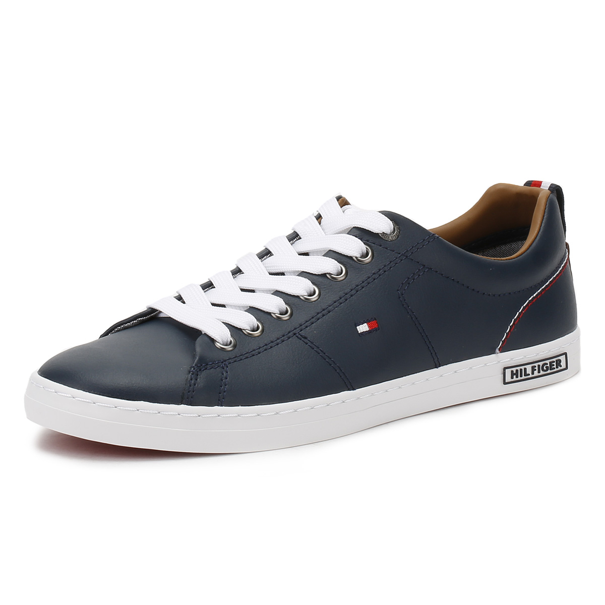 c5a491af5 Details about Tommy Hilfiger Mens Tommy Navy Blue Trainers Lace Up Sport Casual  Shoes K2285AY